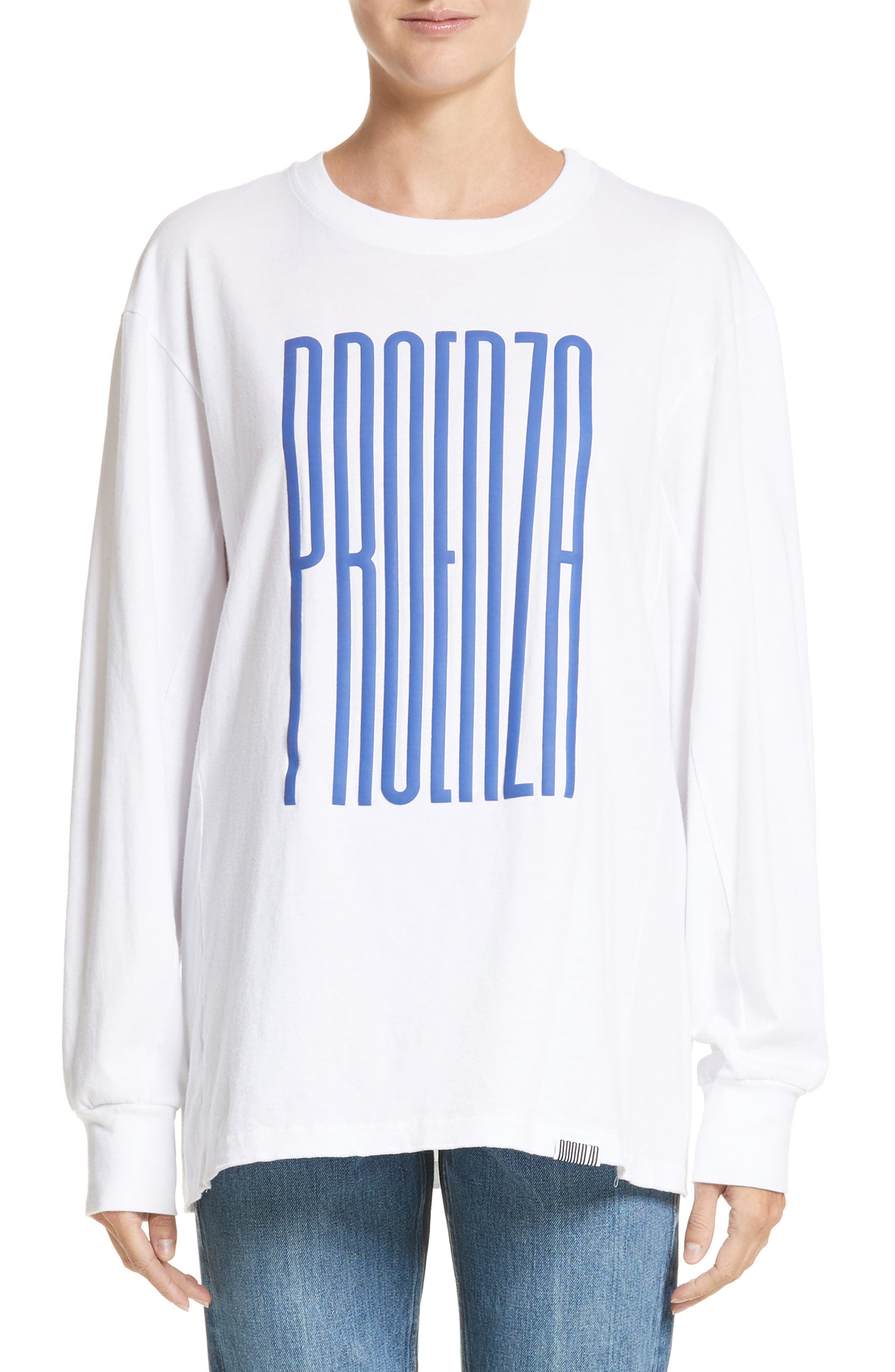 PSWL Graphic Jersey Tee,                         Main,                         color, Blue Proenza Schouler