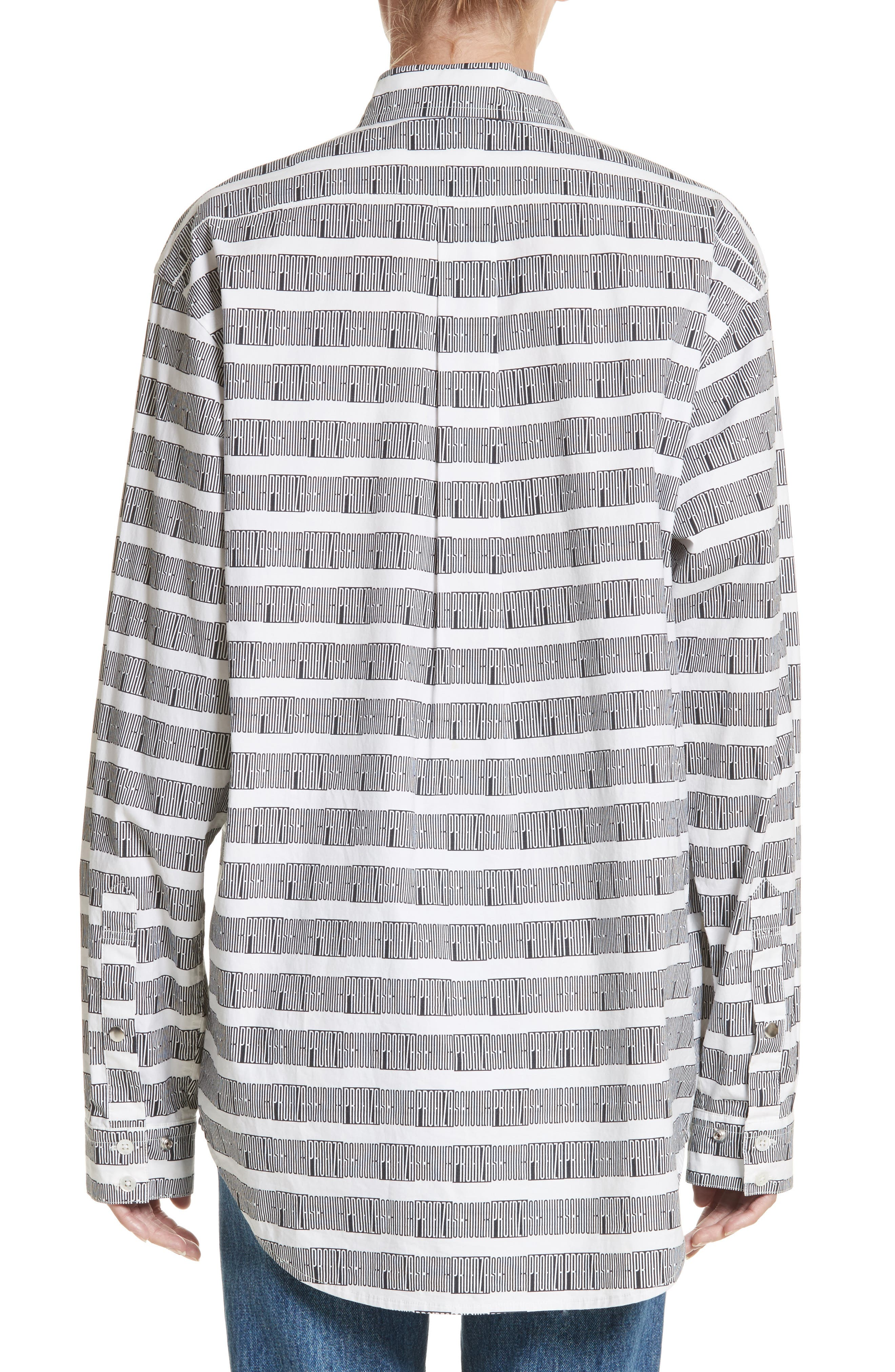 Alternate Image 3  - Proenza Schouler PSWL Graphic Stripe Cotton Top