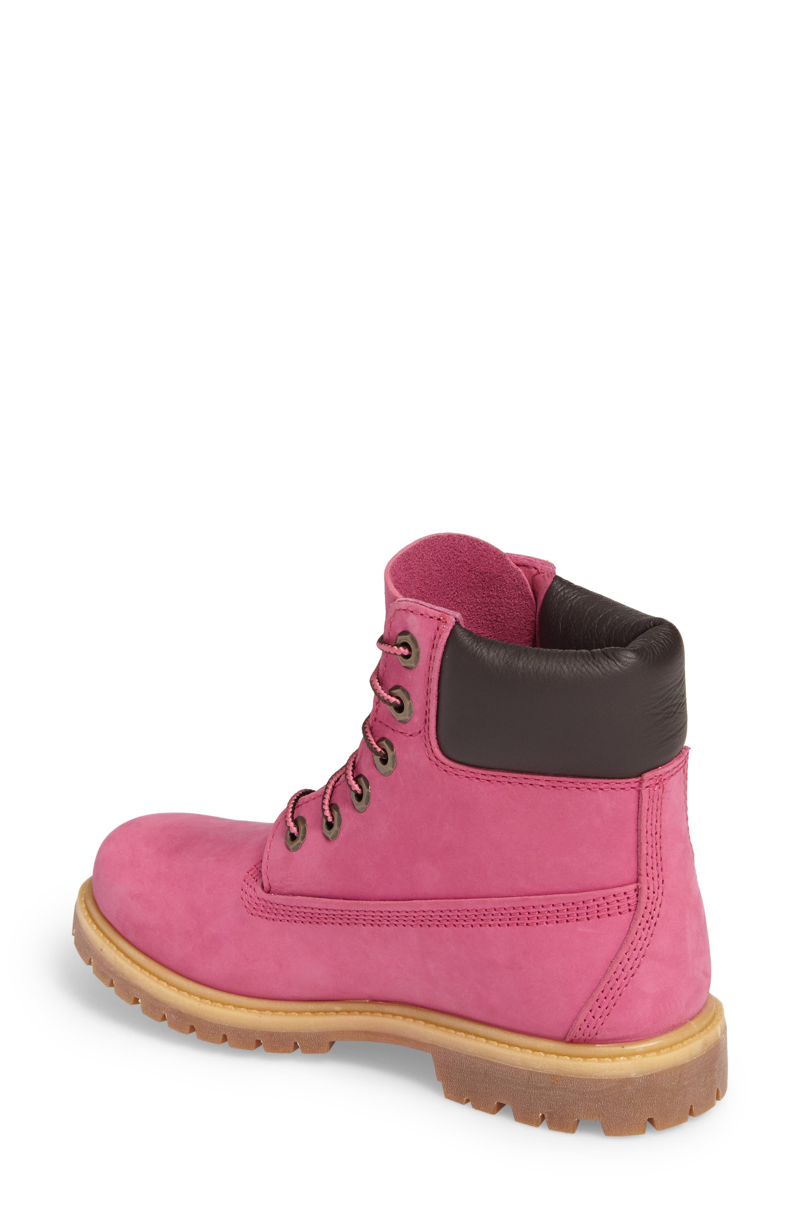 x Susan G. Komen 6-Inch Waterproof Insulated Boot,                             Alternate thumbnail 2, color,                             Bright Pink Nubuck
