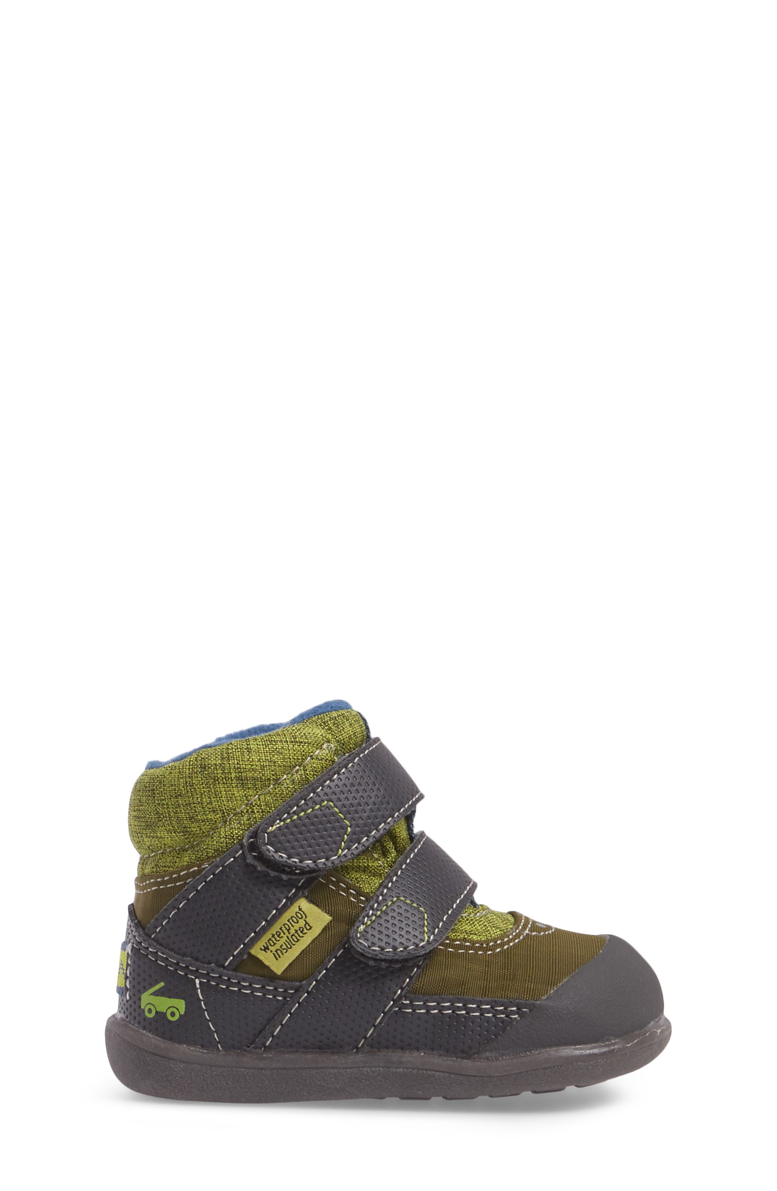 Atlas Waterproof Boot,                             Alternate thumbnail 3, color,                             Green