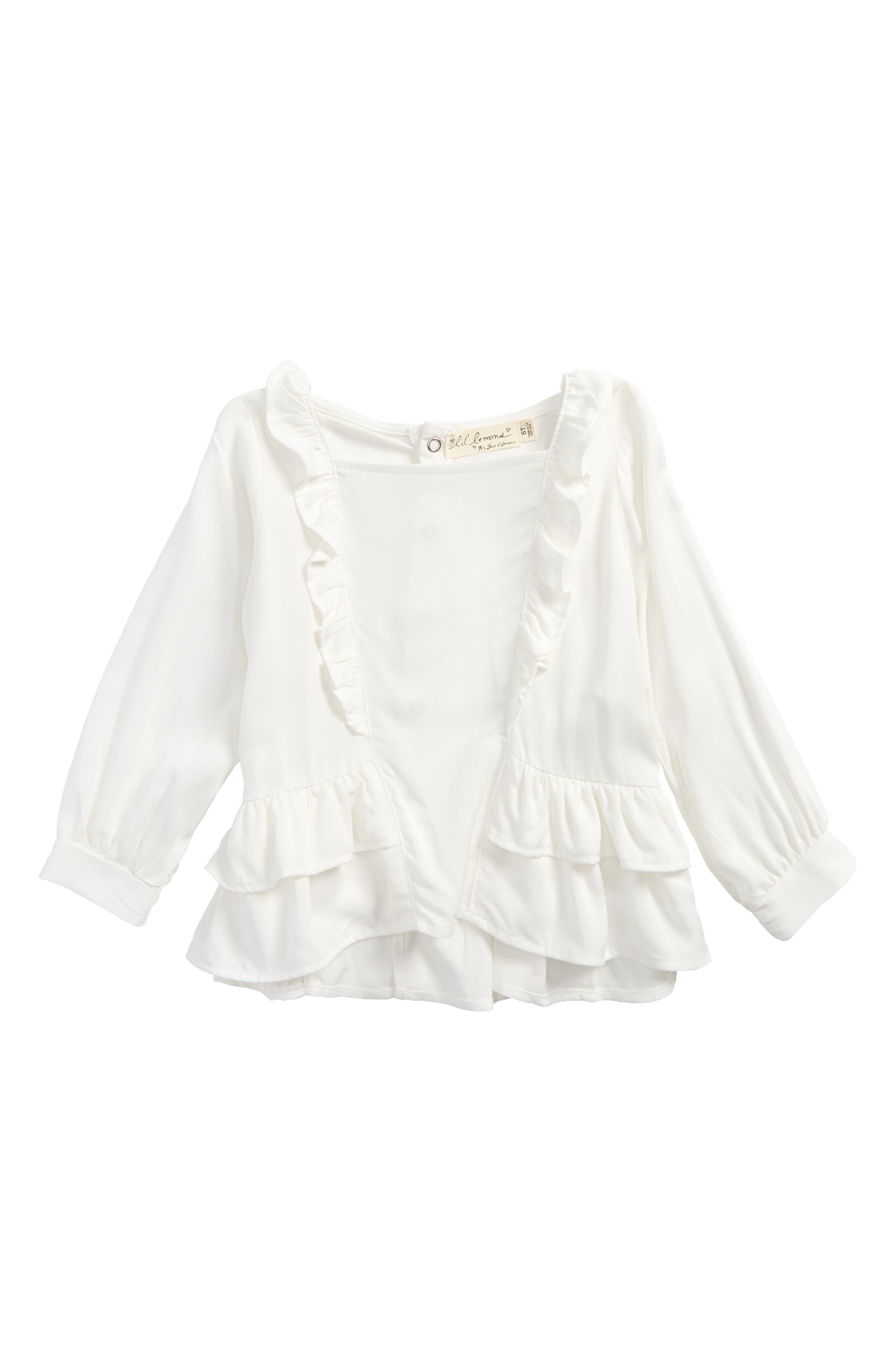 For Love & Lemons White Rose Blouse (Toddler Girls & Little Girls)