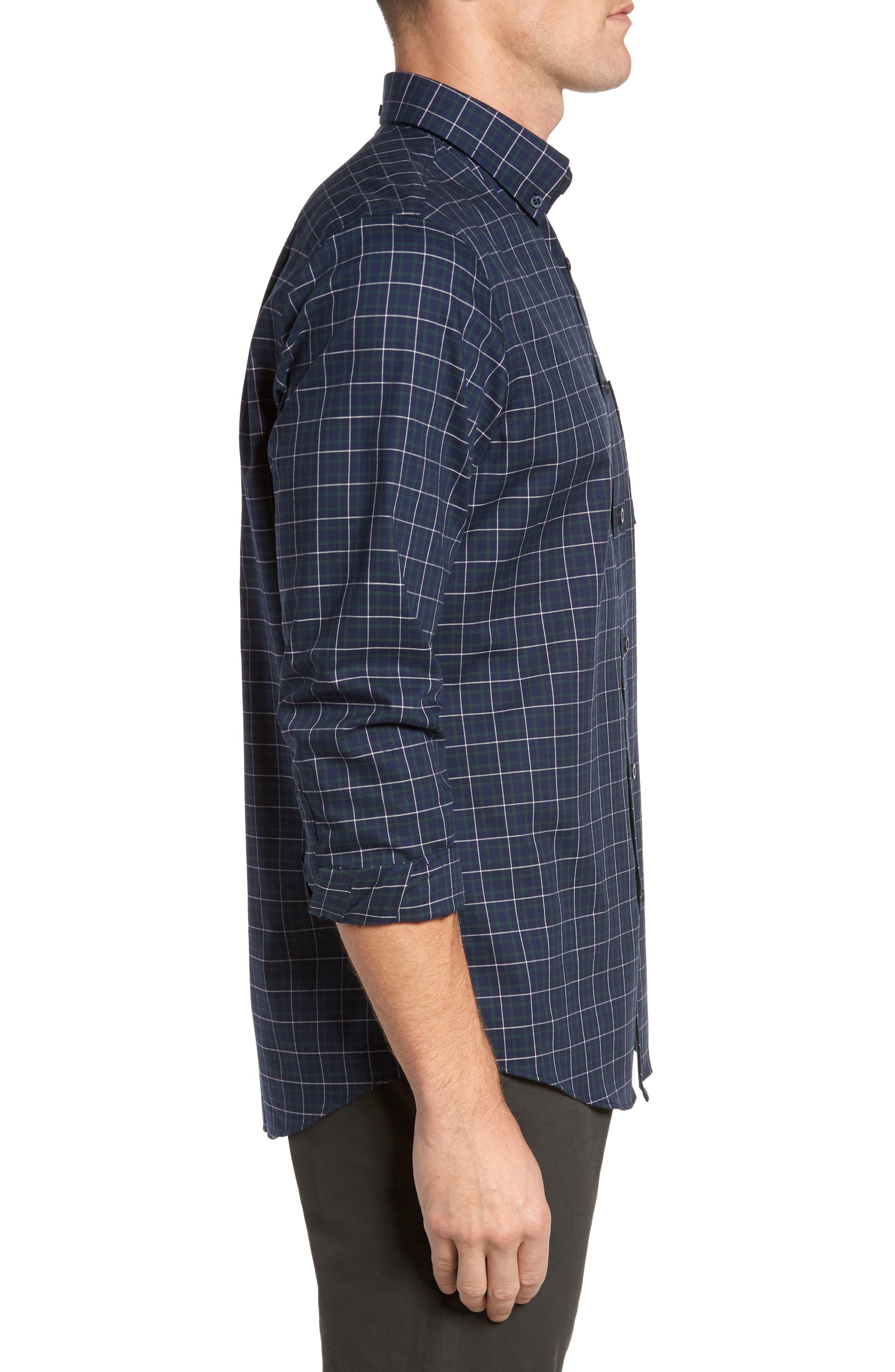 Alternate Image 3  - Nordstrom Men's Shop Regular Fit Non-Iron Plaid Sport Shirt