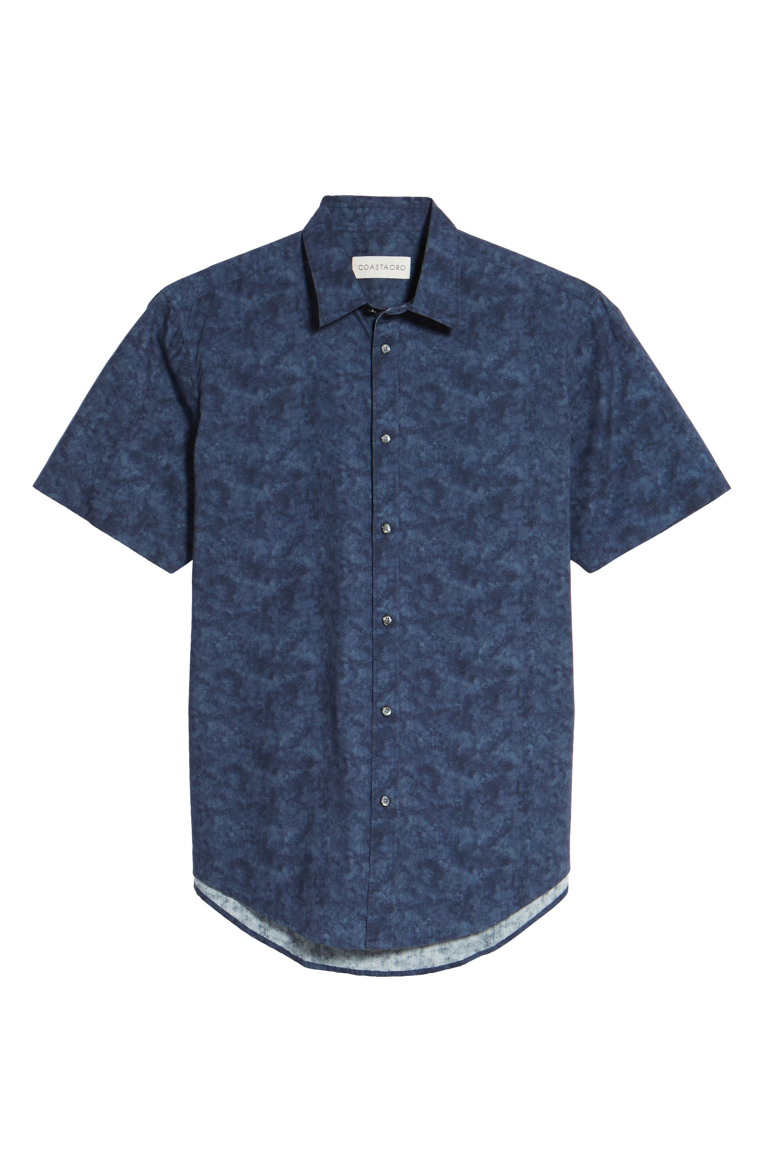 Alternate Image 6  - Coastaoro Seaside Regular Fit Print Sport Shirt