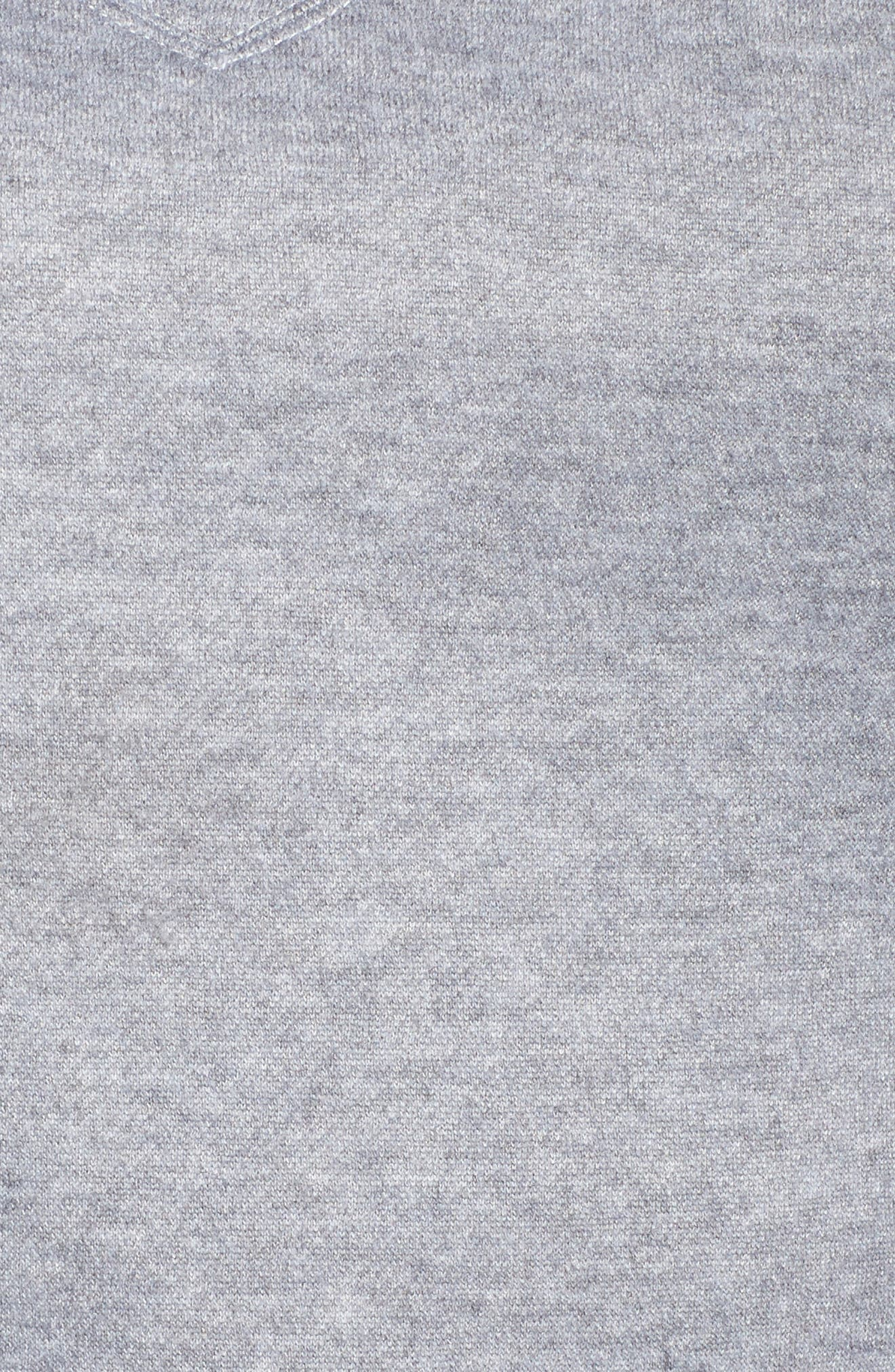 Side Tie Sweatshirt,                             Alternate thumbnail 5, color,                             Grey