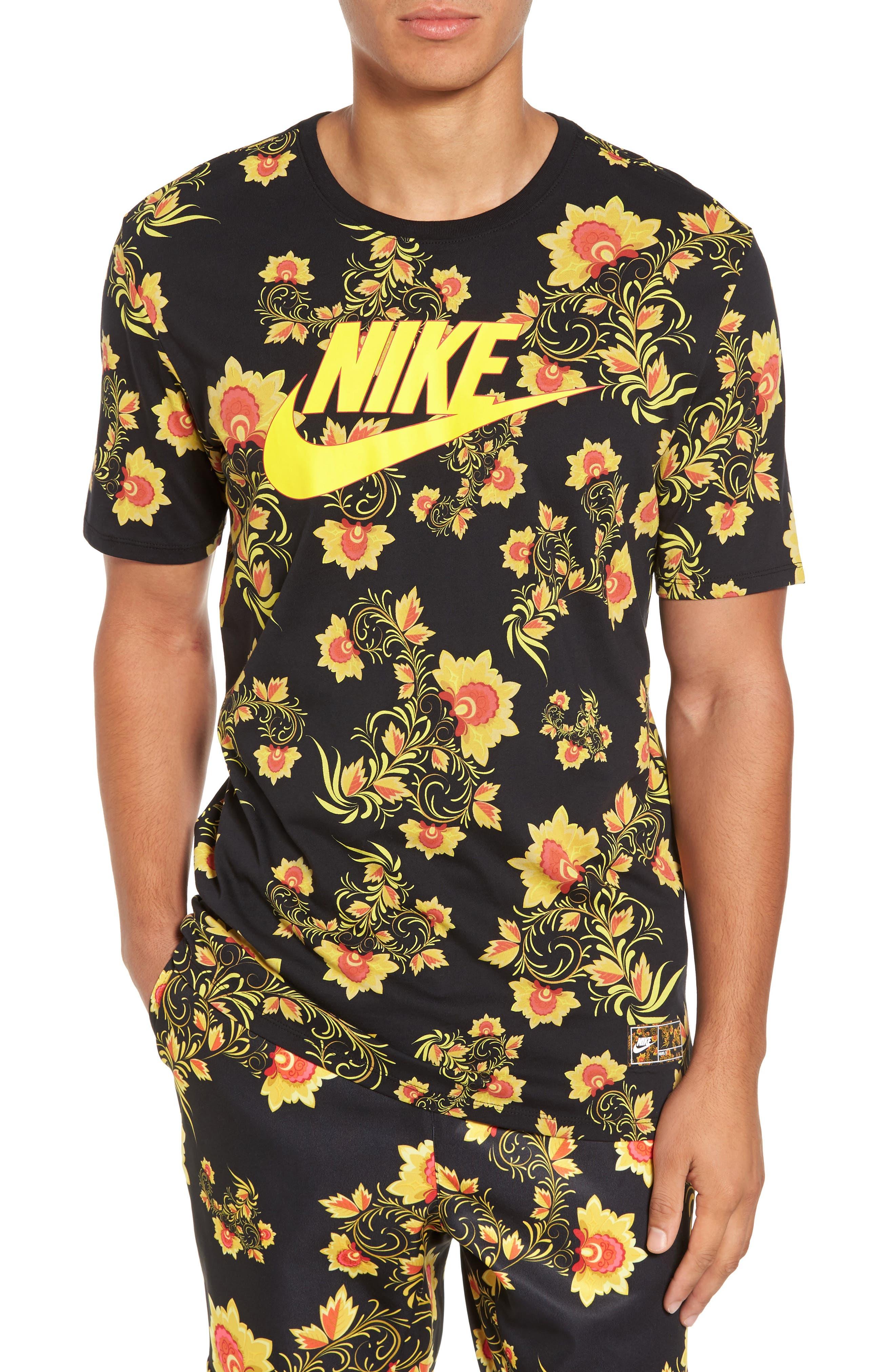 NSW Concept T-Shirt,                         Main,                         color, Black/ Tour Yellow