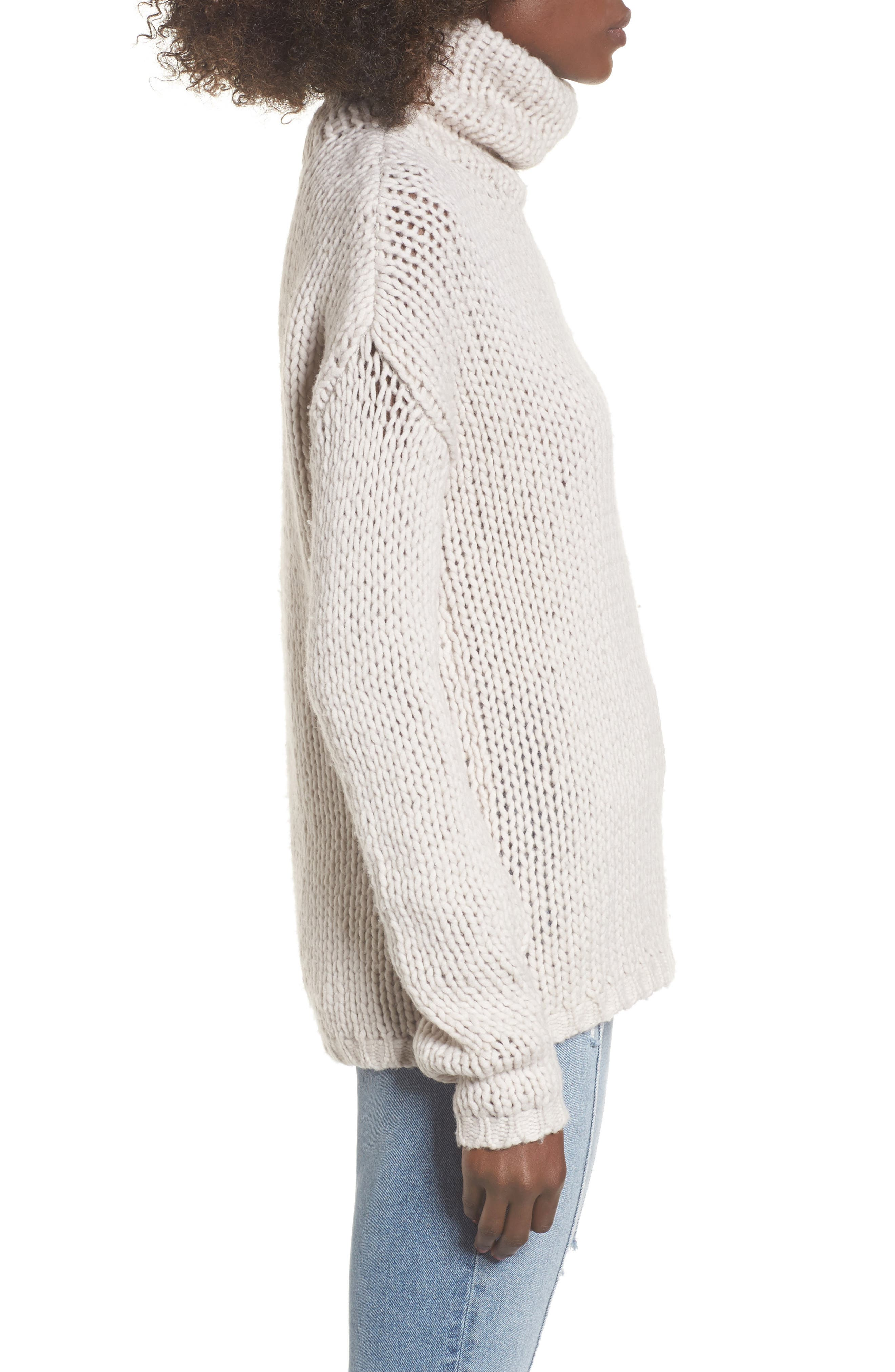 Hawken Turtleneck Sweater,                             Alternate thumbnail 3, color,                             Pearl