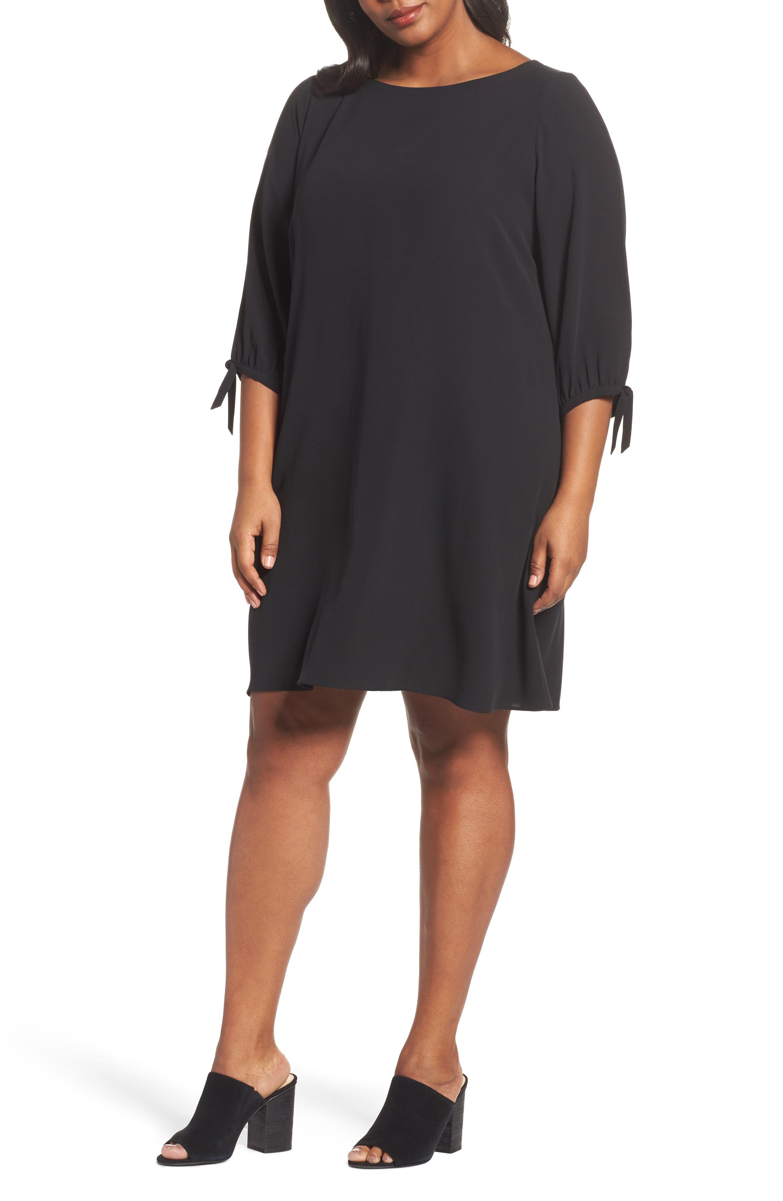 Eileen Fisher Silk Shift Dress (Plus Size)