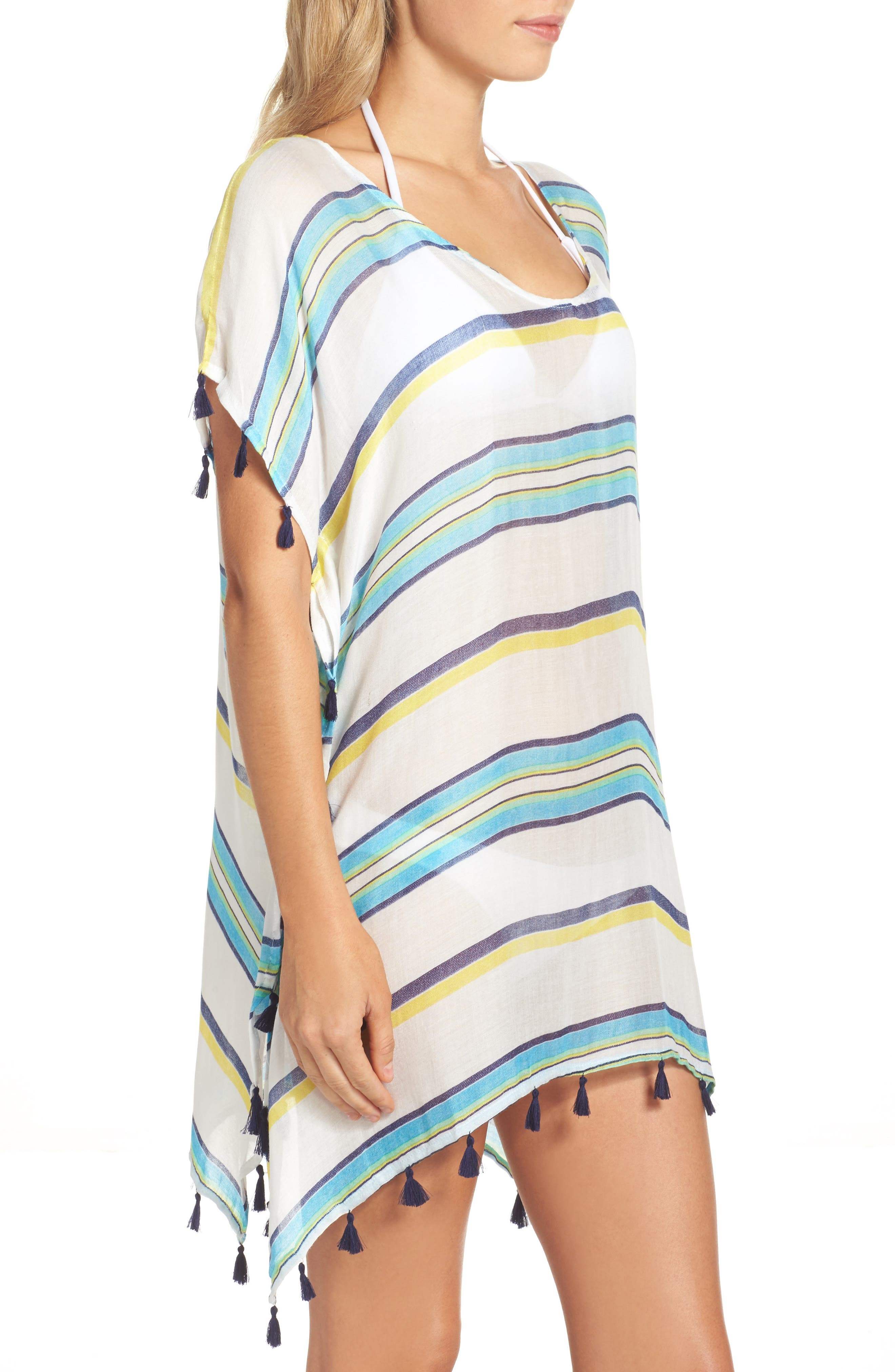 Alternate Image 3  - Surf Gypsy Stripe Tassel Cover-Up Poncho