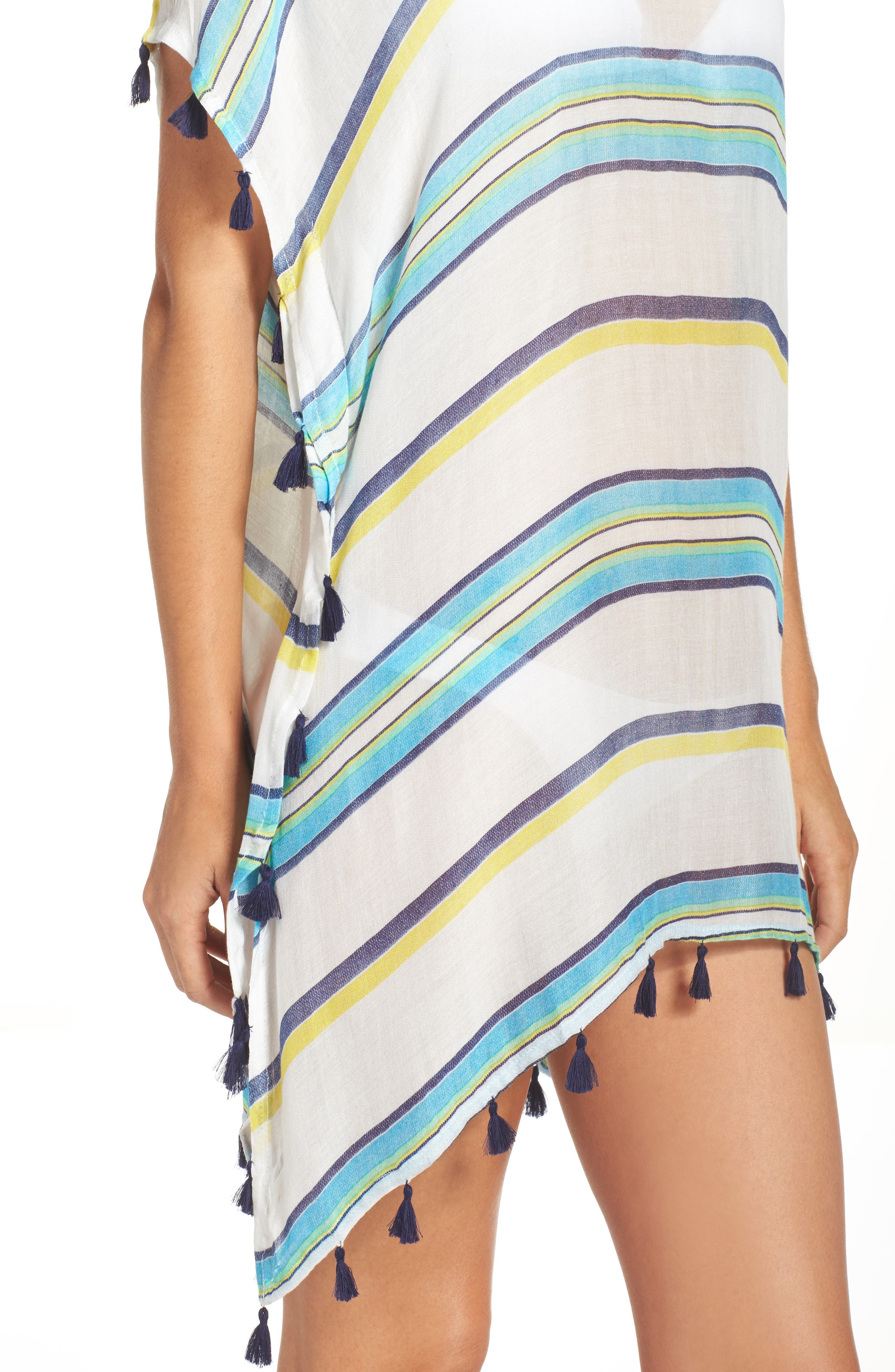Alternate Image 4  - Surf Gypsy Stripe Tassel Cover-Up Poncho