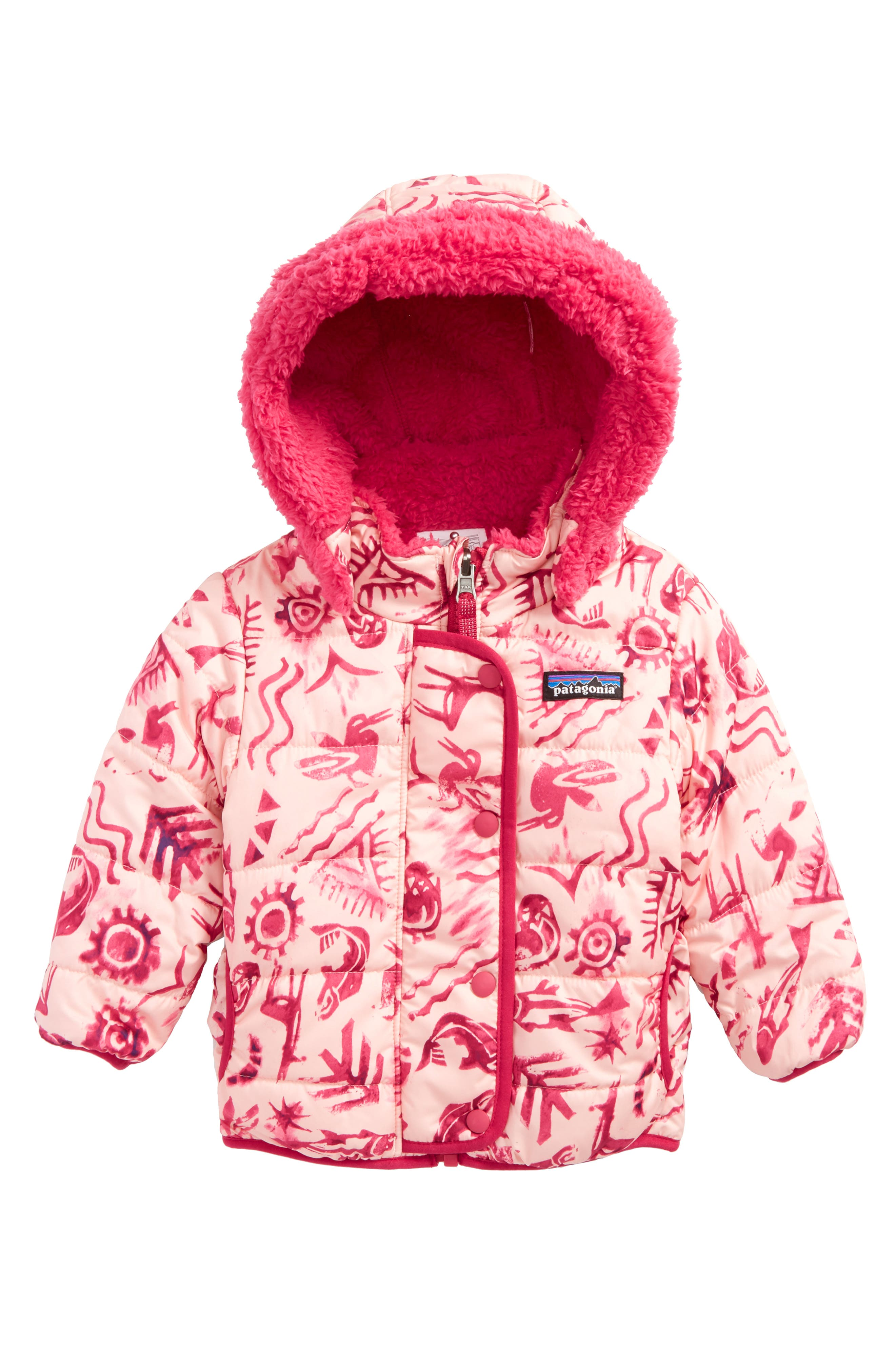 Main Image - Patagonia Dream Song Water-Repellent Reversible Jacket (Baby Girls)