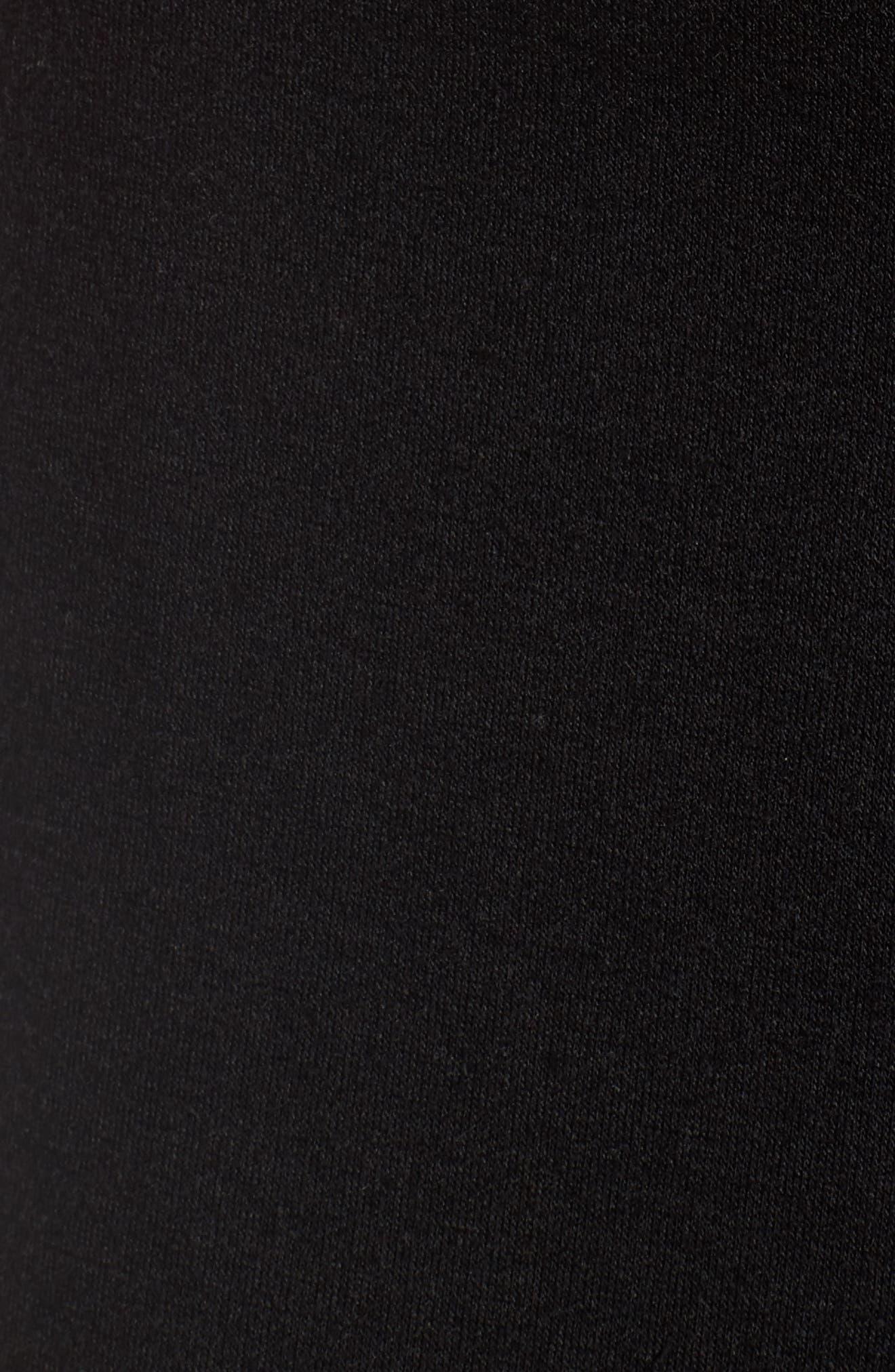 Ruffle Midi Skirt,                             Alternate thumbnail 5, color,                             Black