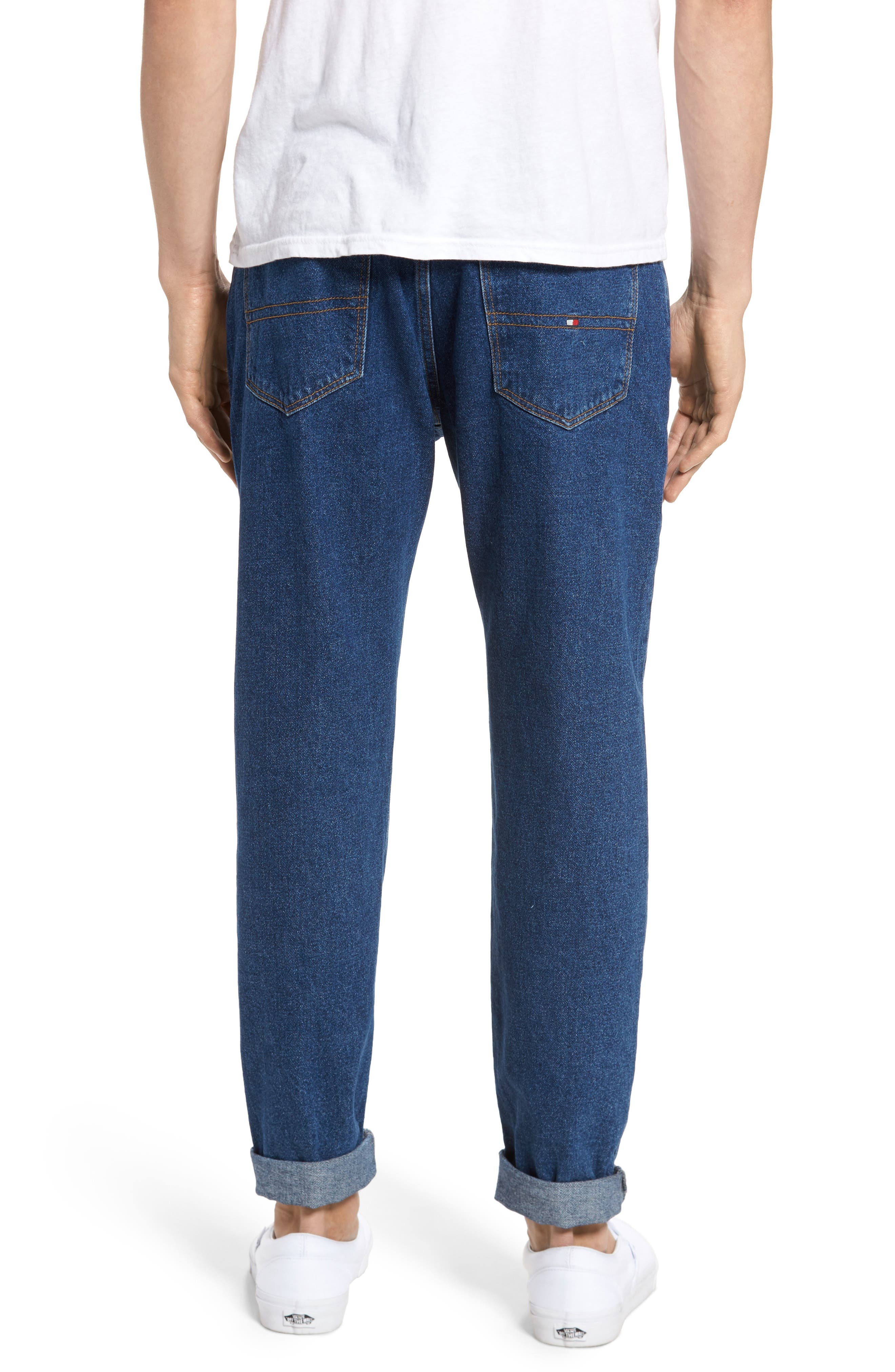 90s Classic Straight Leg Jeans,                             Alternate thumbnail 2, color,                             Denim Blue