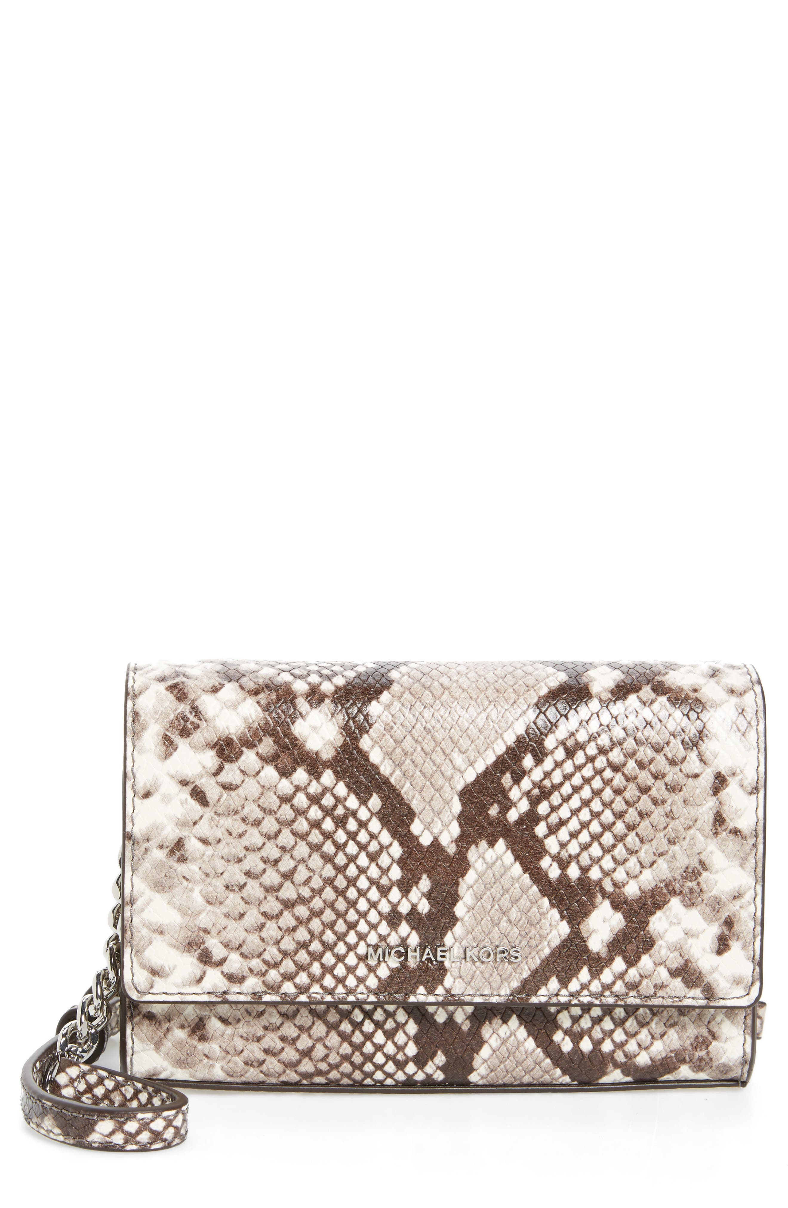 Alternate Image 1 Selected - MICHAEL Michael Kors Ruby Leather Clutch