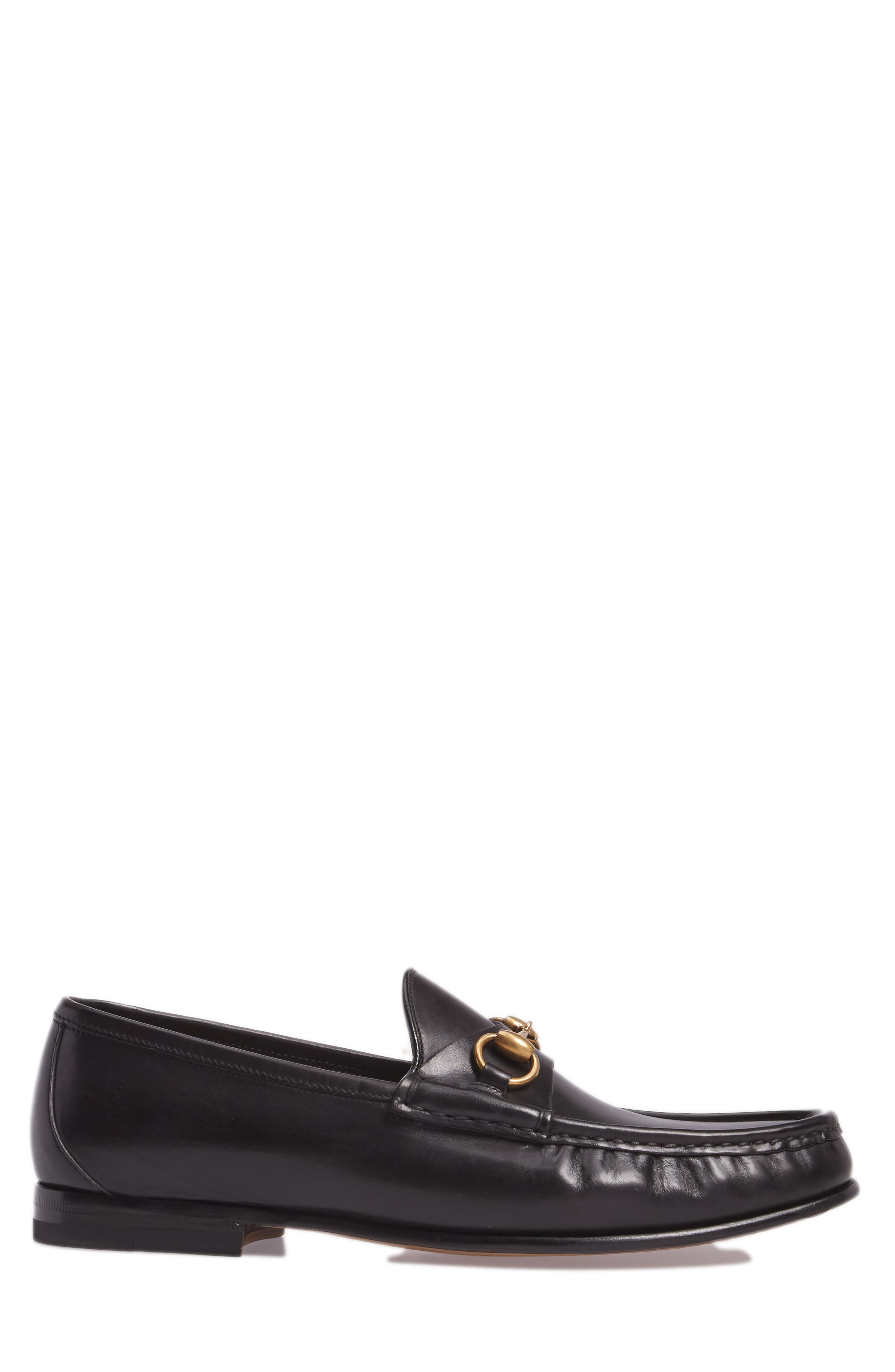 'Roos' Bit Loafer,                             Alternate thumbnail 3, color,                             Nero