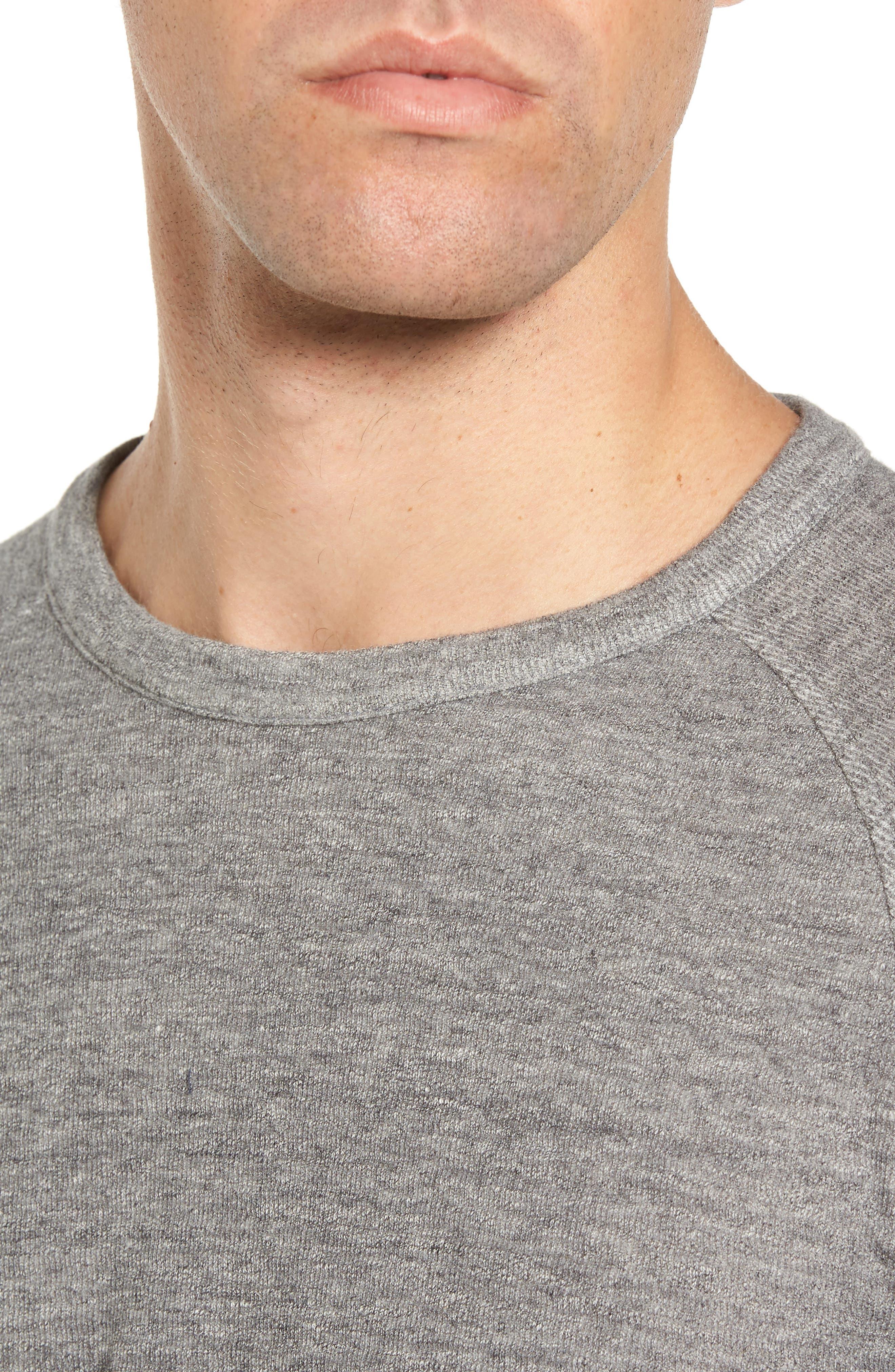 Jensen Double Cloth Crewneck Shirt,                             Alternate thumbnail 4, color,                             Grey