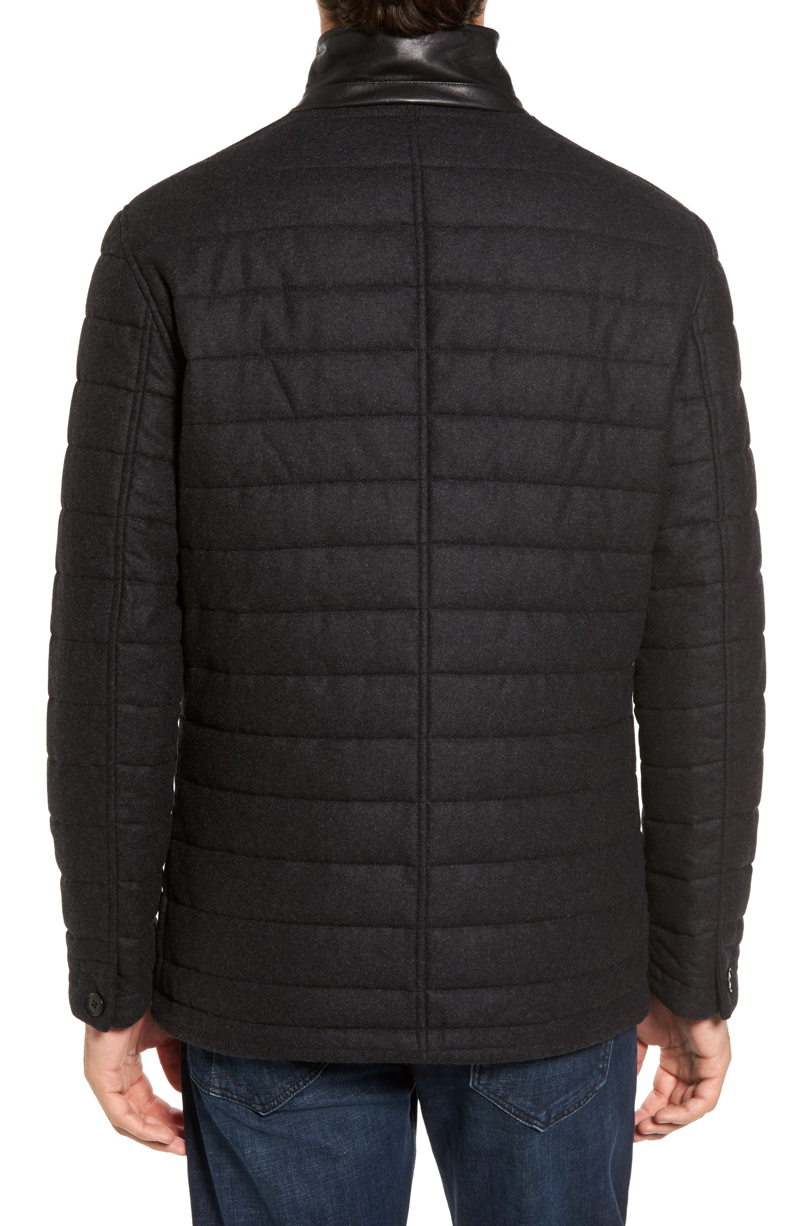 Leighton Place Padded Field Coat,                             Alternate thumbnail 2, color,                             Coal