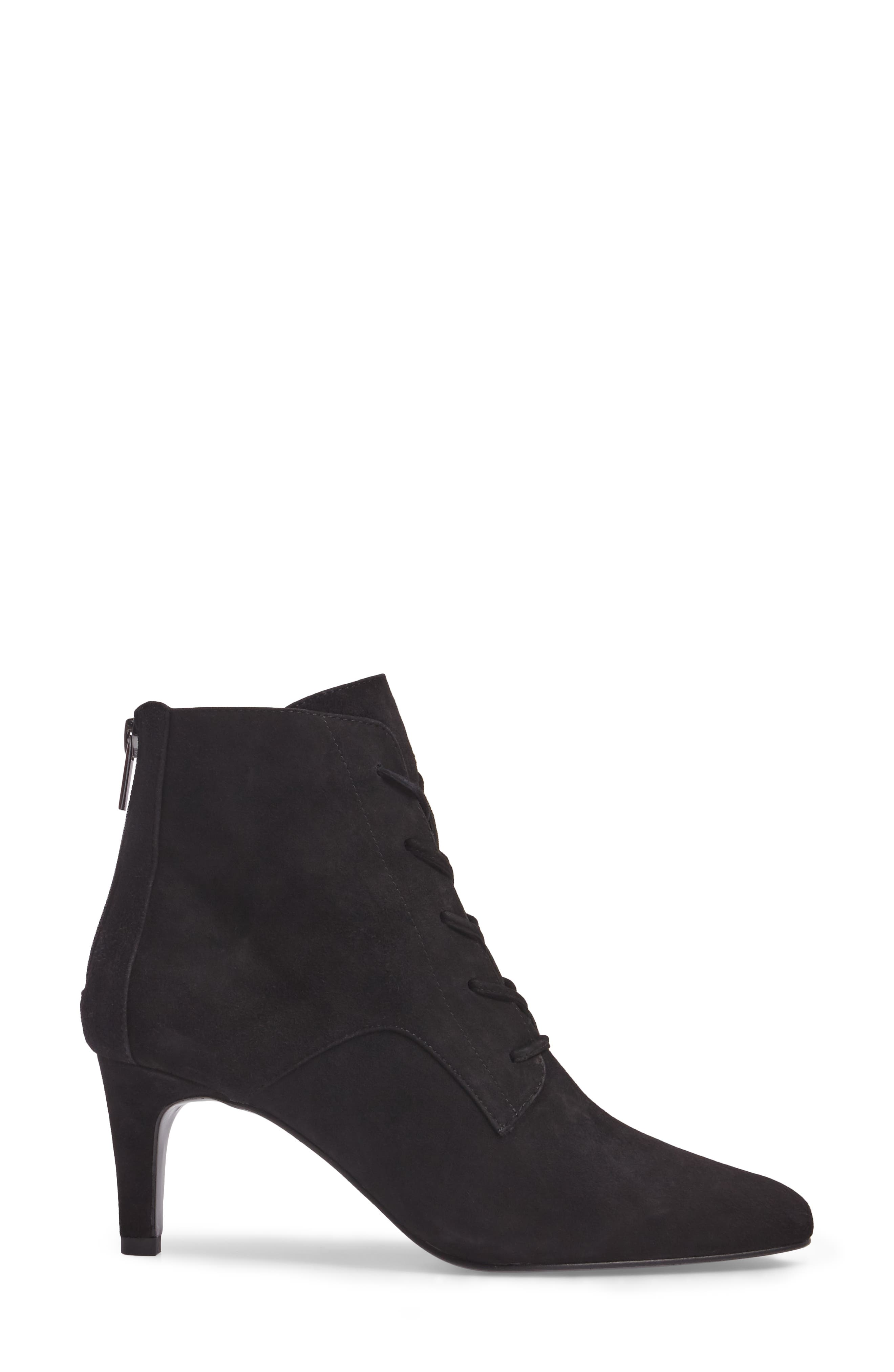 Yelen Bootie,                             Alternate thumbnail 3, color,                             Black Leather