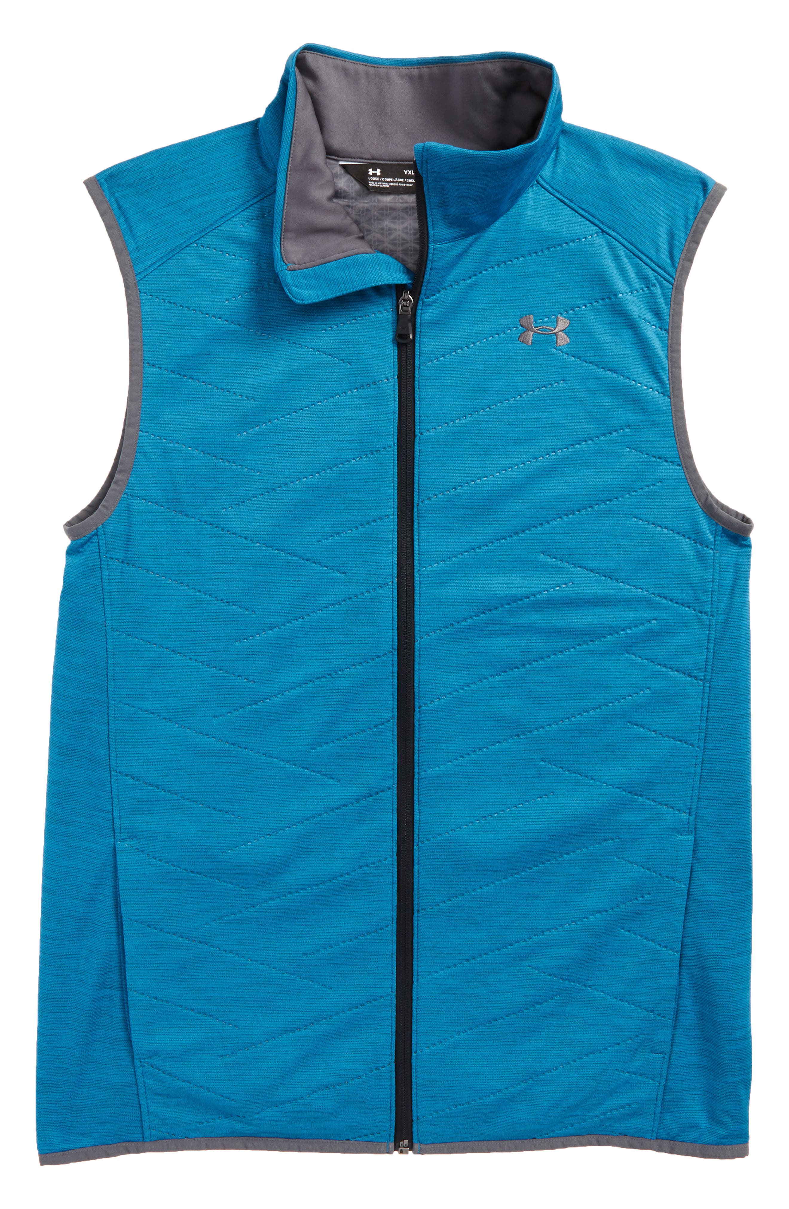 ColdGear<sup>®</sup> Reactor Hybrid Vest,                             Main thumbnail 1, color,                             Bayou Blue/ Rhino Gray