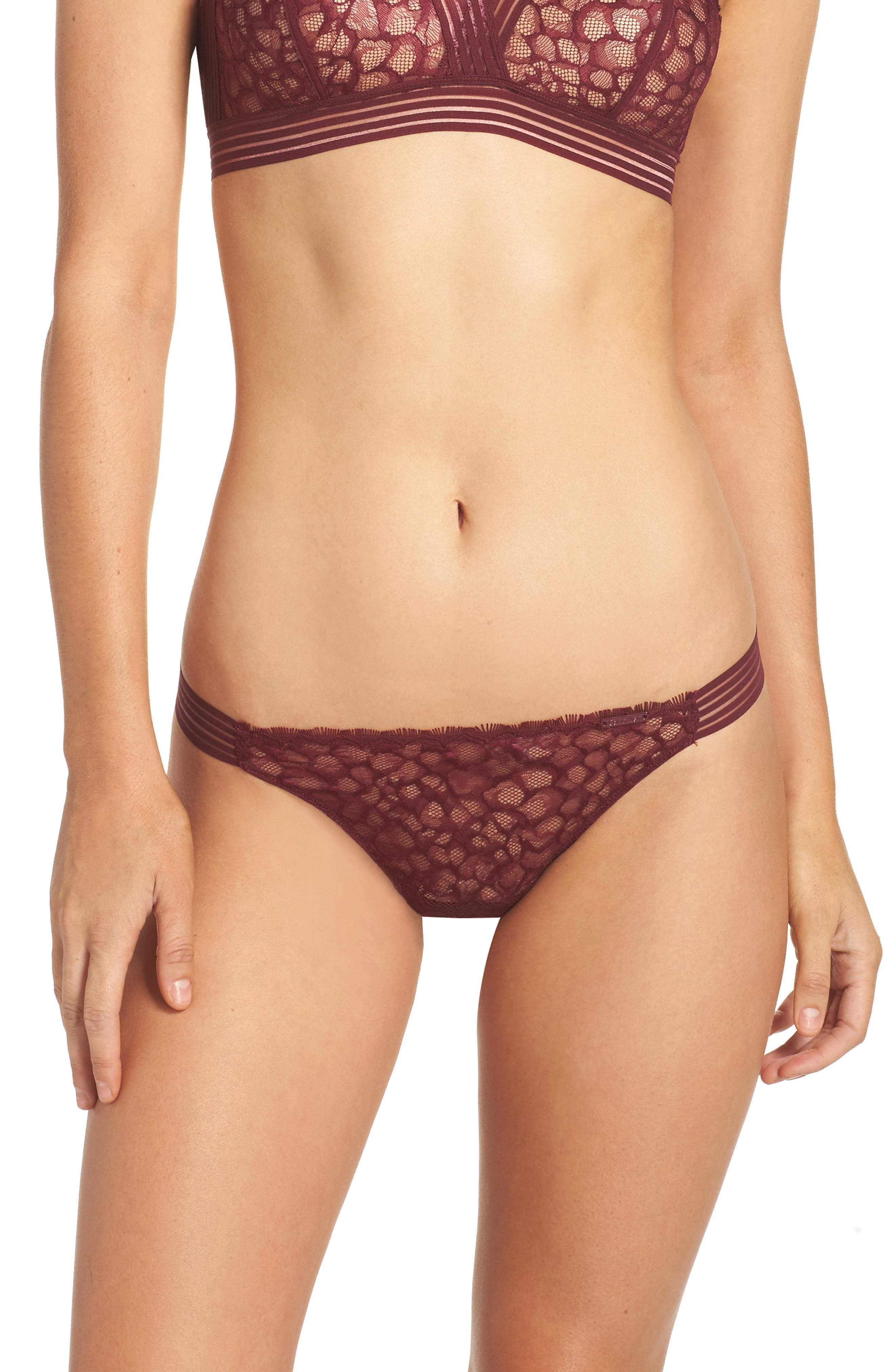 Lace Thong,                         Main,                         color, Brazen