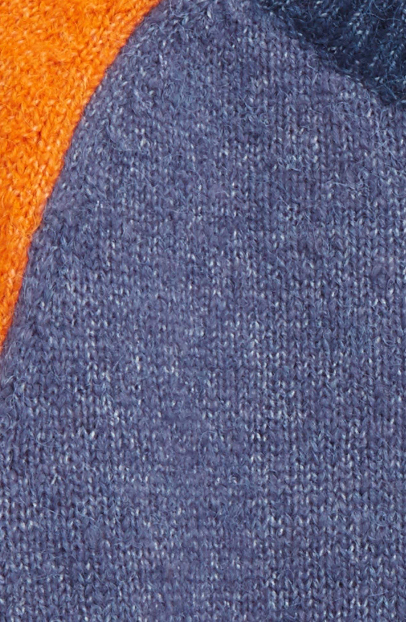 Colorblock Sweater,                             Alternate thumbnail 2, color,                             Blue Vintage Multi