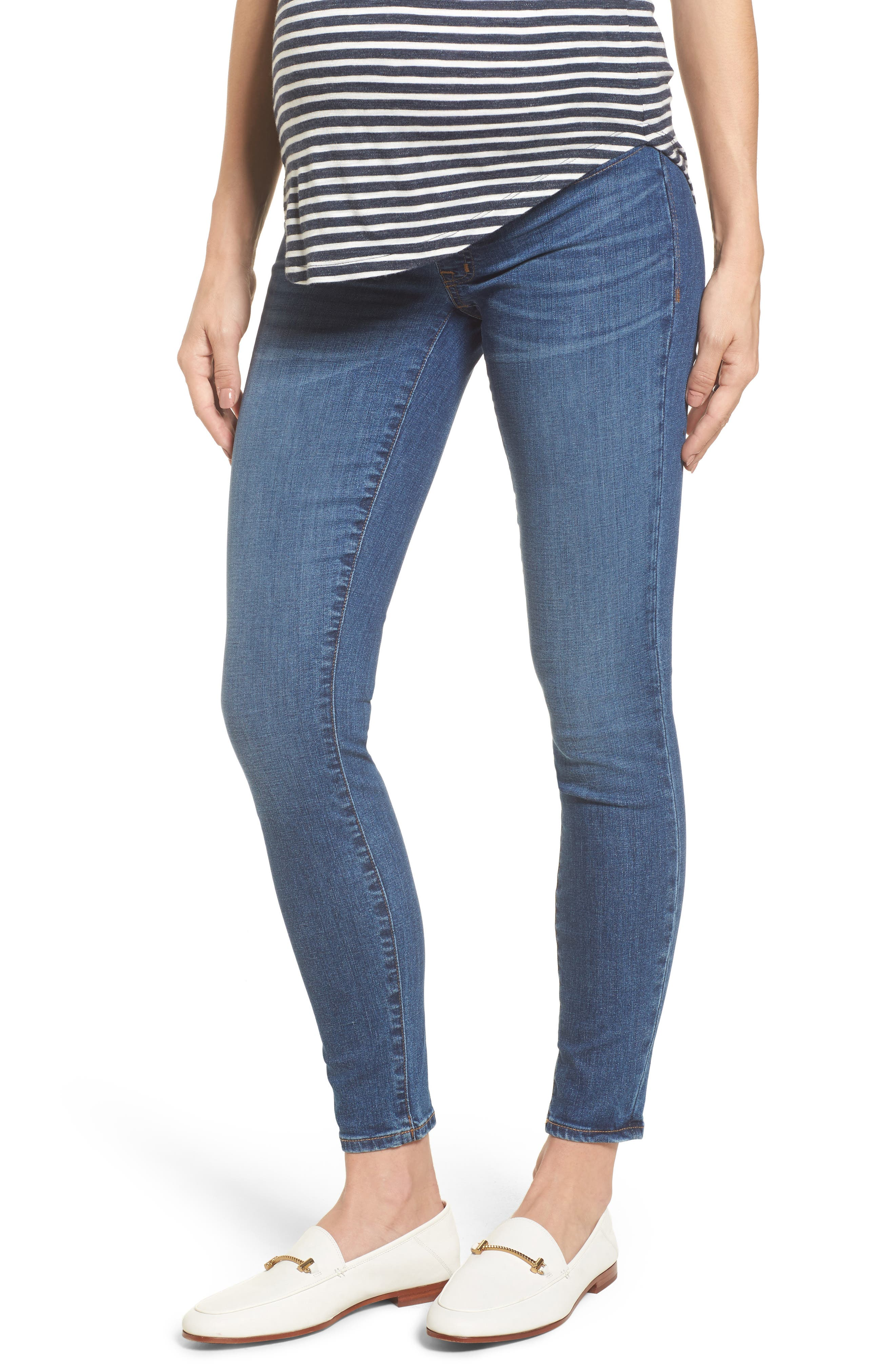 Maternity Skinny Jeans,                         Main,                         color, Juliet Wash