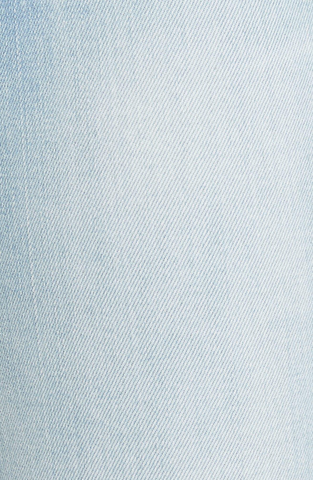 Alternate Image 5  - FRAME Le Skinny de Jeanne Raw Edge Skinny Jeans