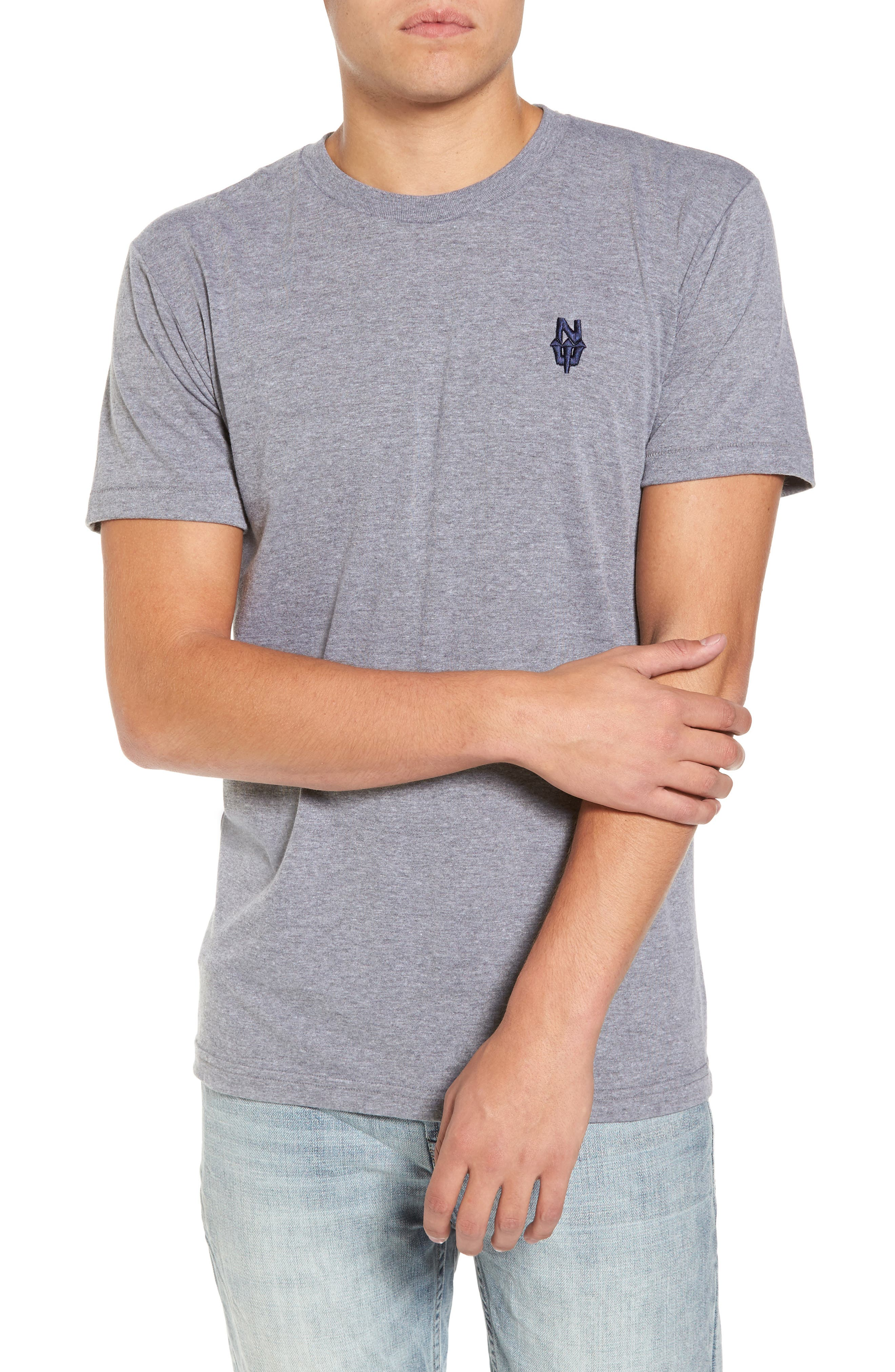 NW Trident Embroidered T-Shirt,                         Main,                         color, Grey