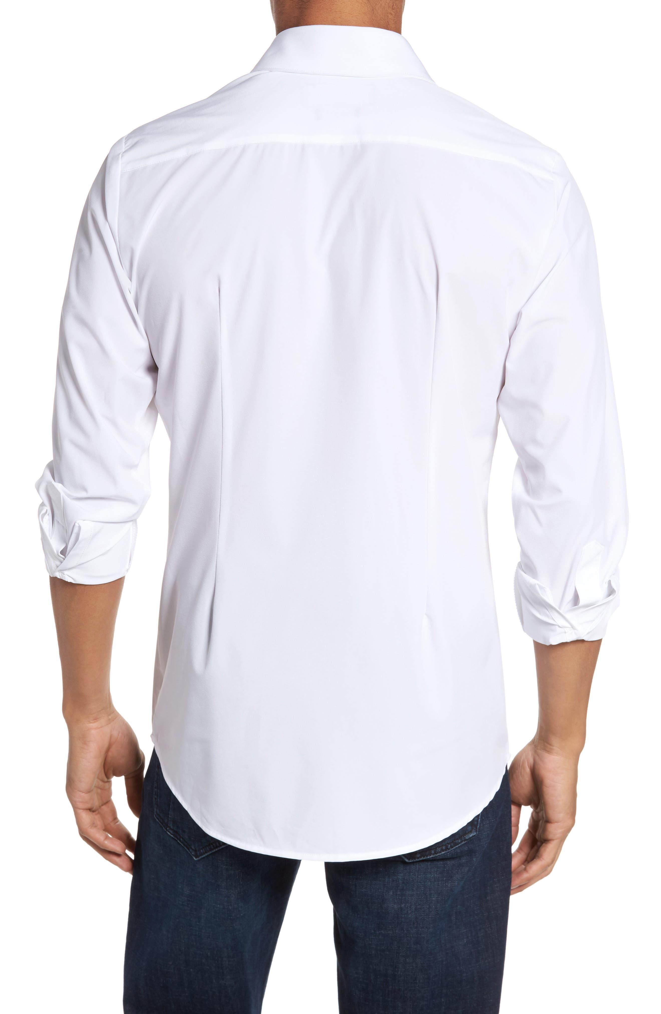 Stockton Sport Shirt,                             Alternate thumbnail 3, color,                             White