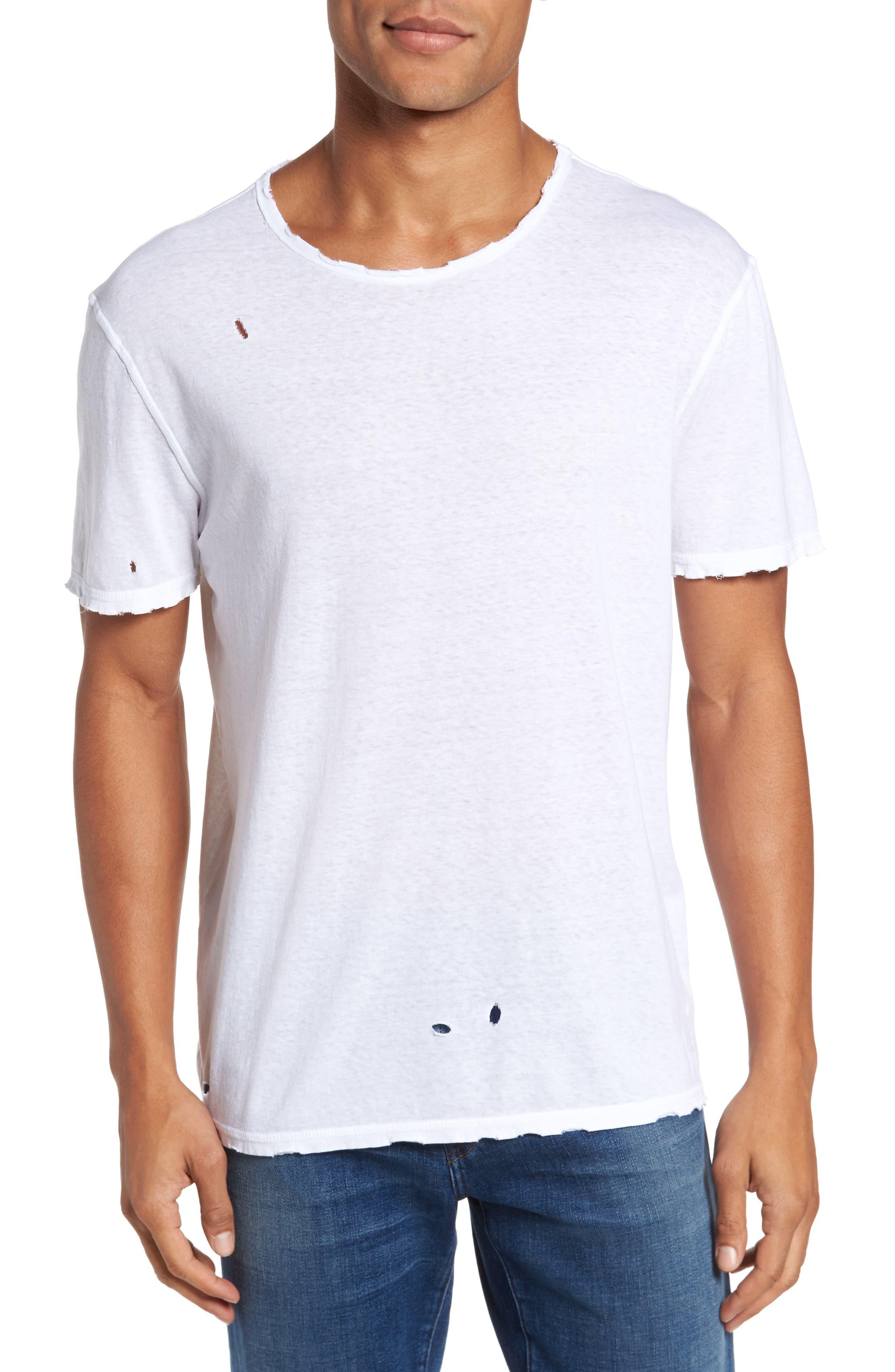 AG Ramsey Shredded Hem T-Shirt