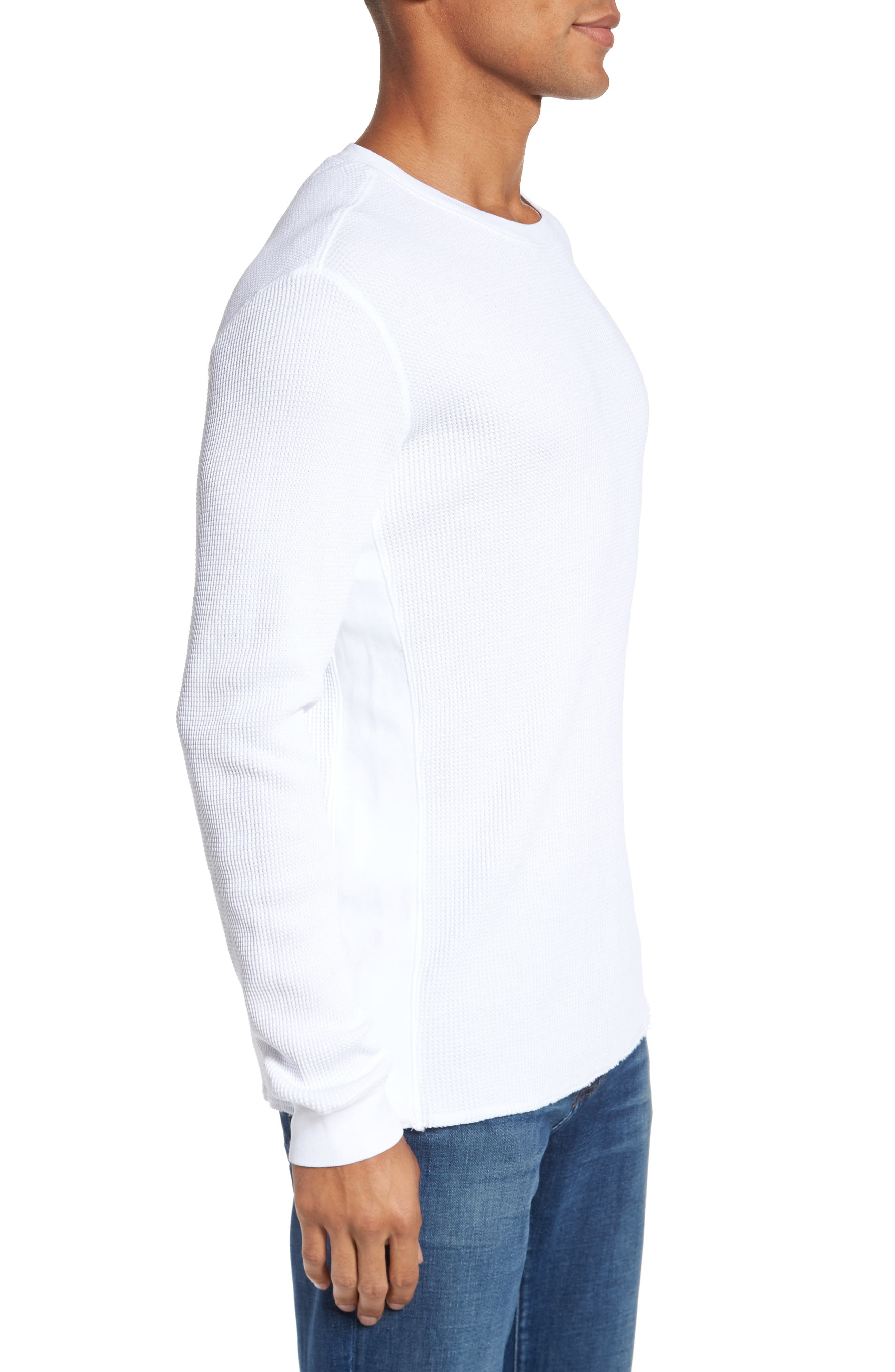 Travis Slim Fit Long Sleeve T-Shirt,                             Alternate thumbnail 3, color,                             True White