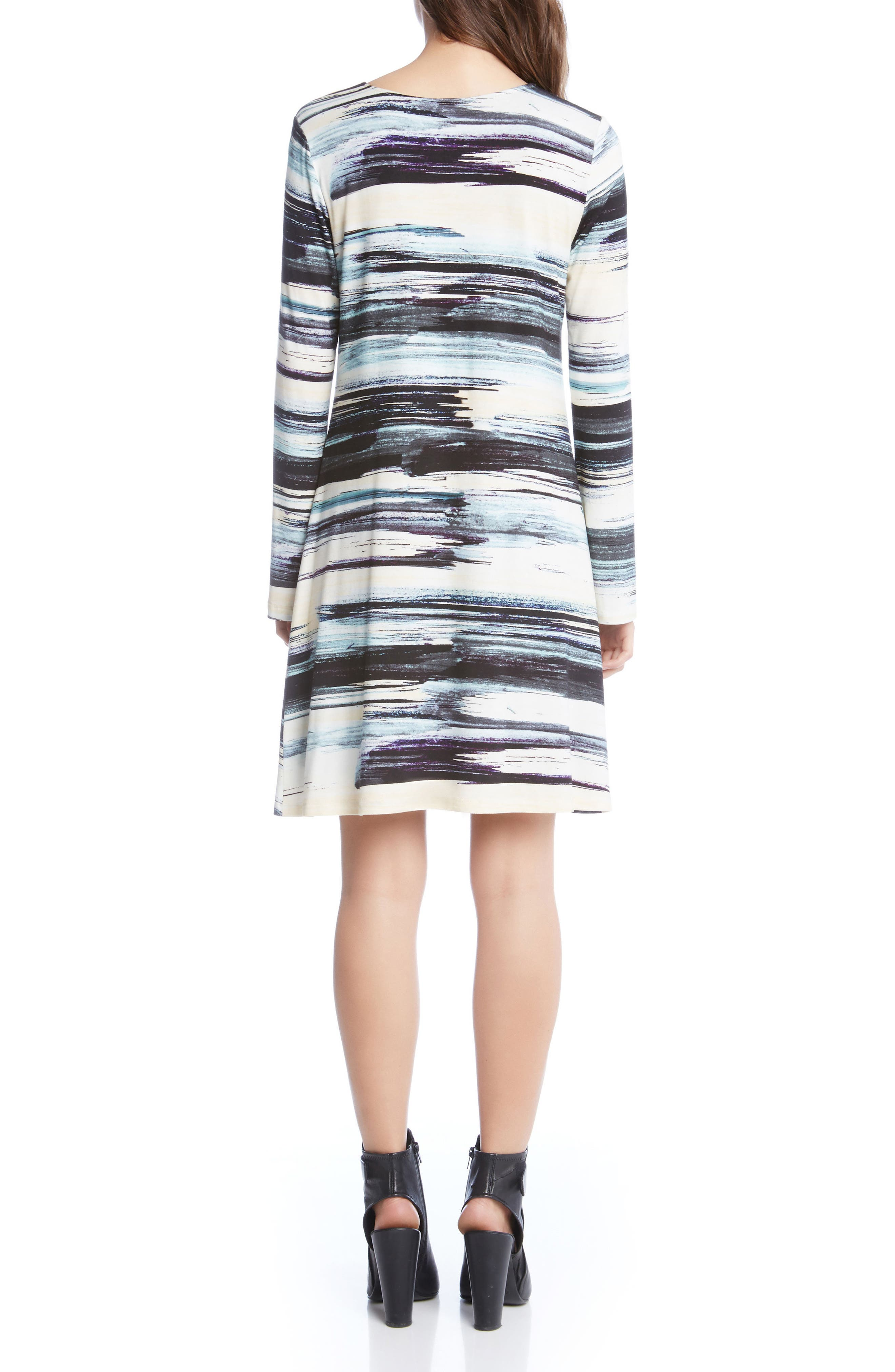 Taylor Brushstrokes Dress,                             Alternate thumbnail 3, color,                             Print