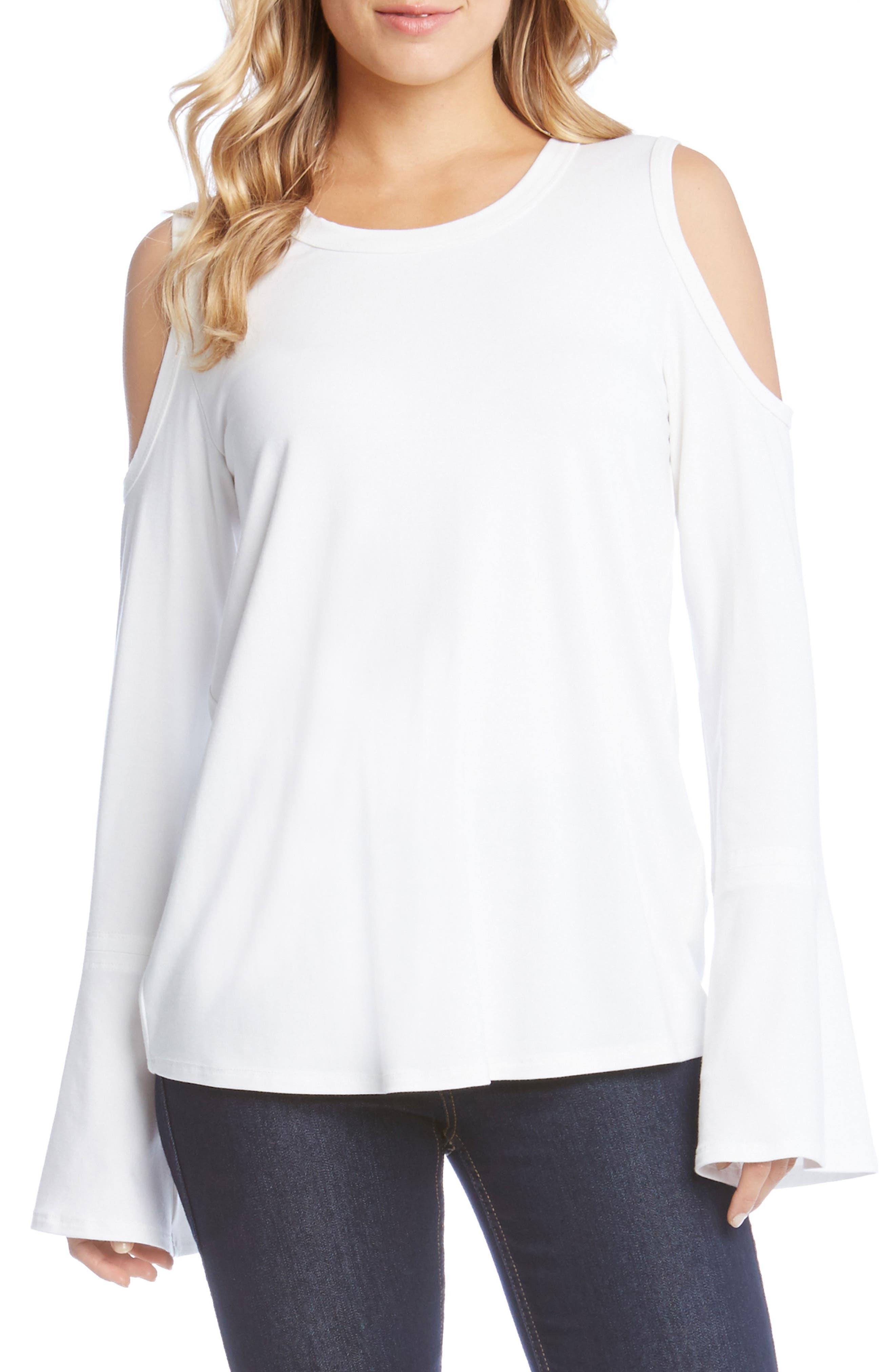 Karen Kane Cold Shoulder Bell Sleeve Top