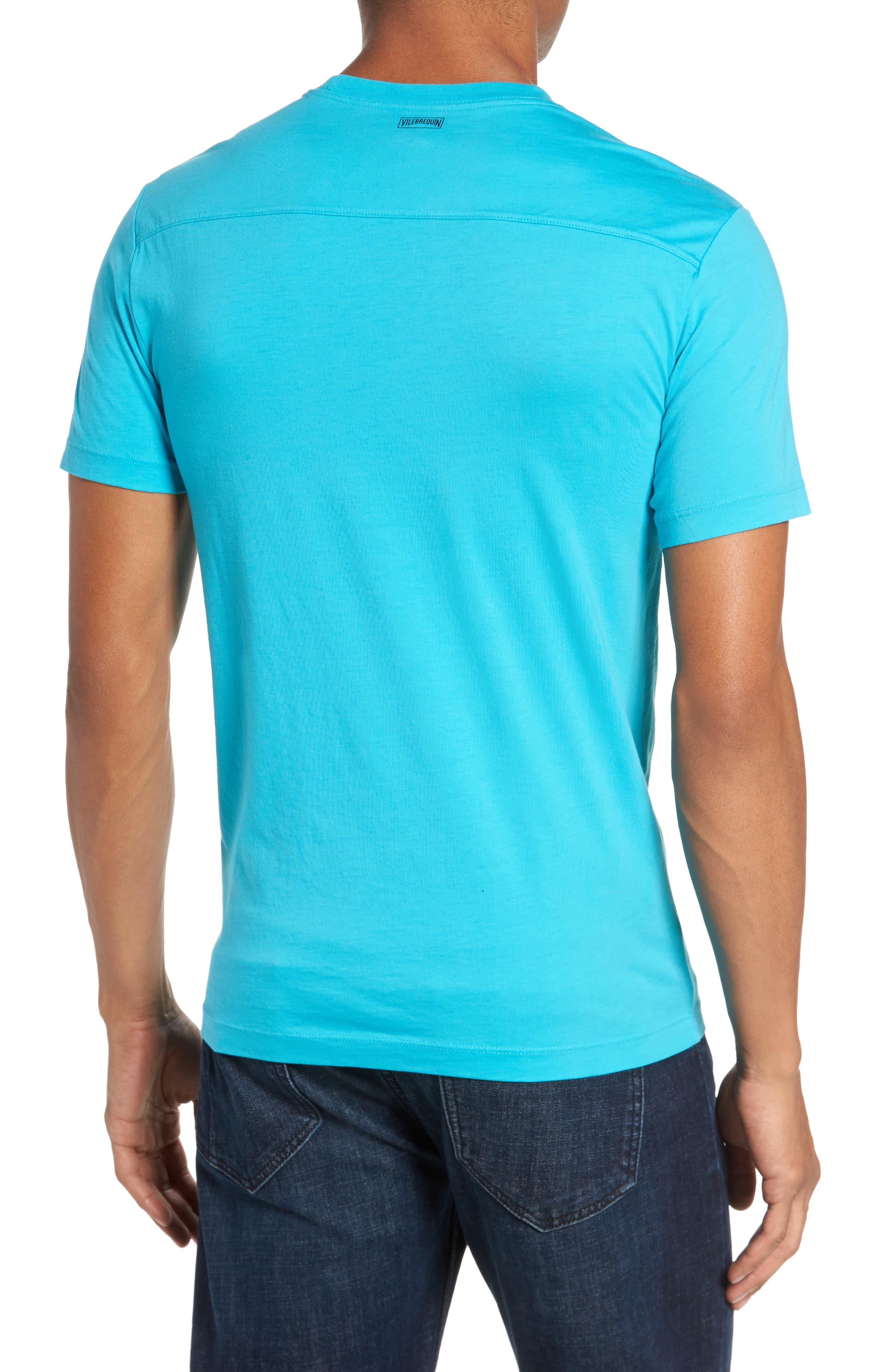 Classic Fit Pocket T-Shirt,                             Alternate thumbnail 2, color,                             Azure