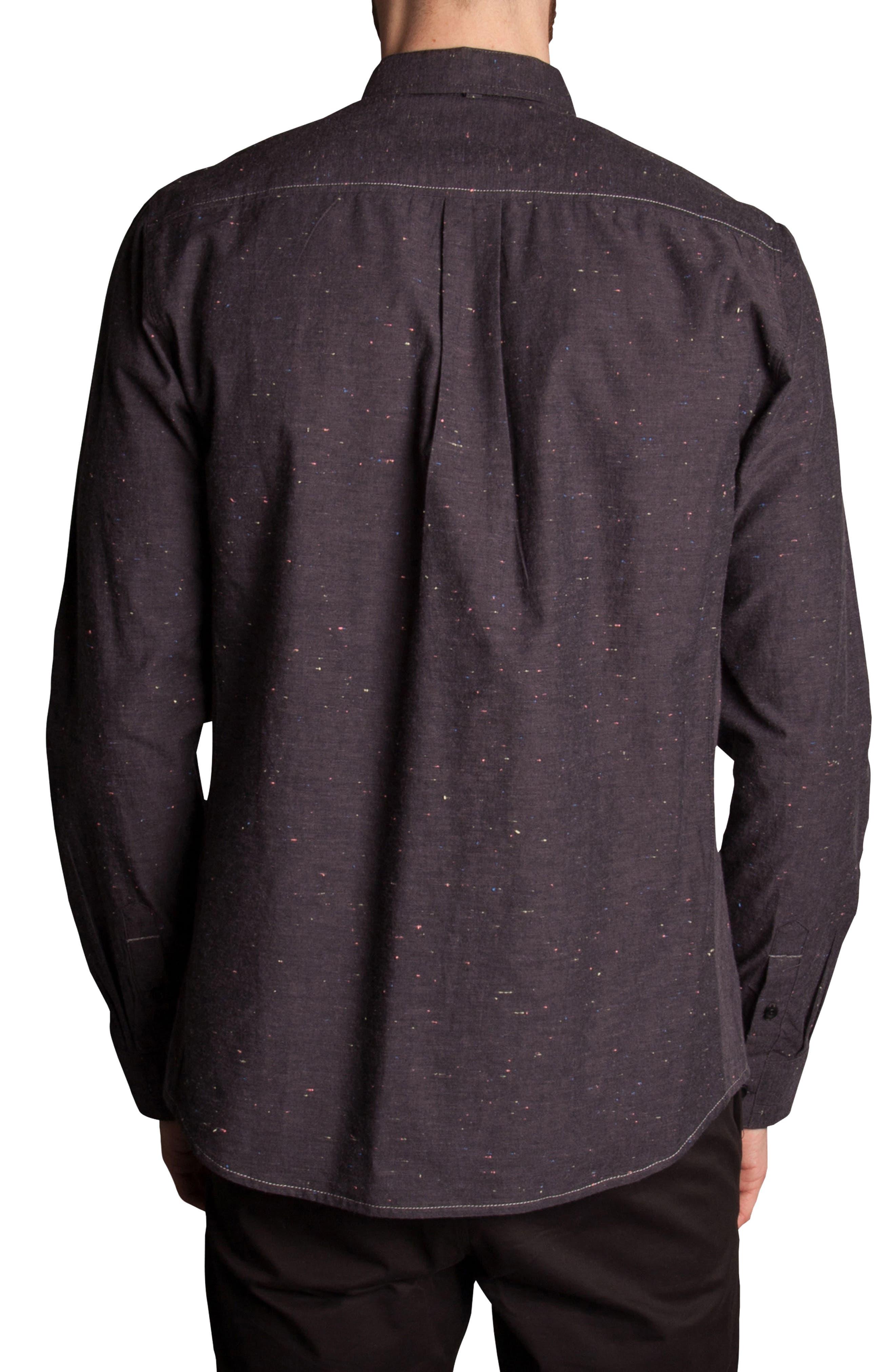 Base Speck Sport Shirt,                             Alternate thumbnail 2, color,                             Charcoal
