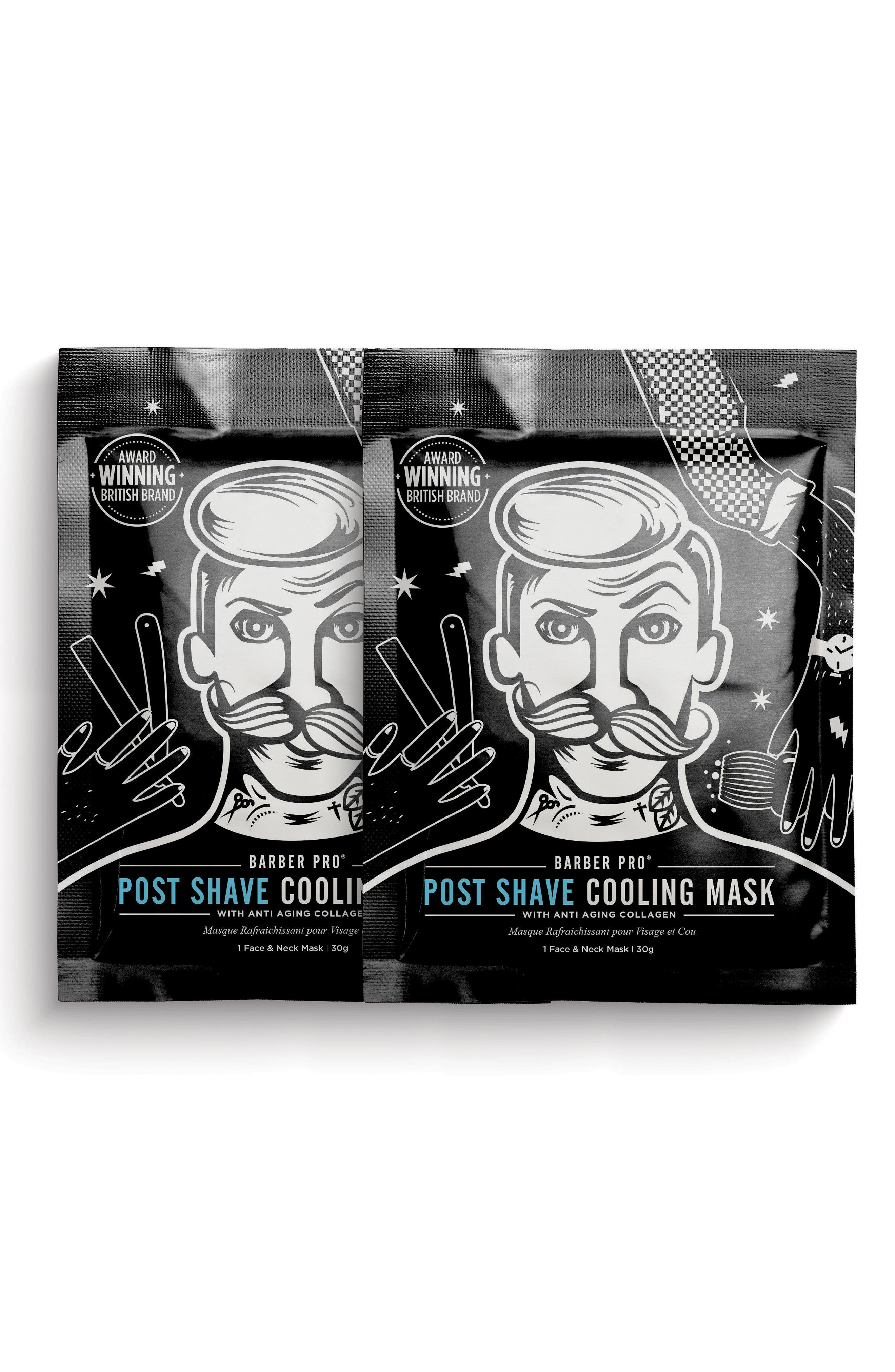 Post Shave Cooling Mask Duo,                             Main thumbnail 1, color,                             No Color