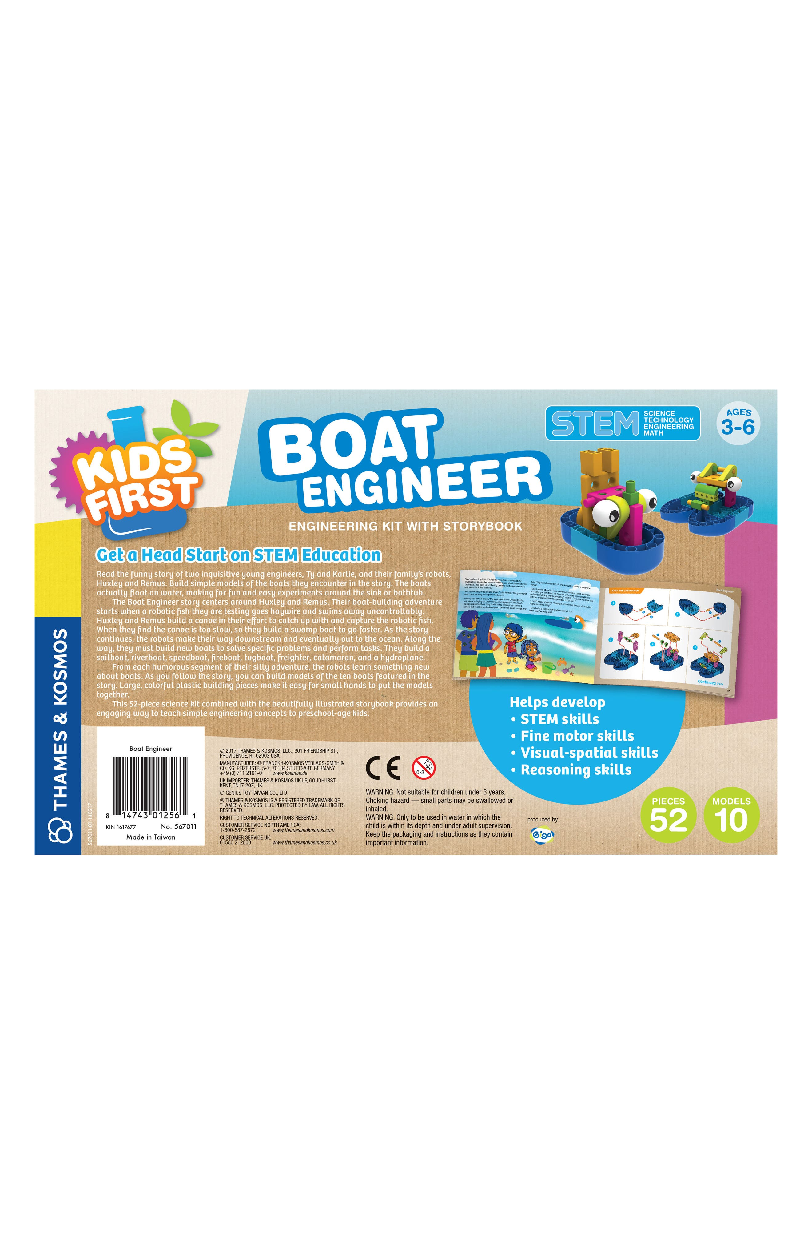 Boat Engineer Kit with Storybook,                             Alternate thumbnail 2, color,                             Multi