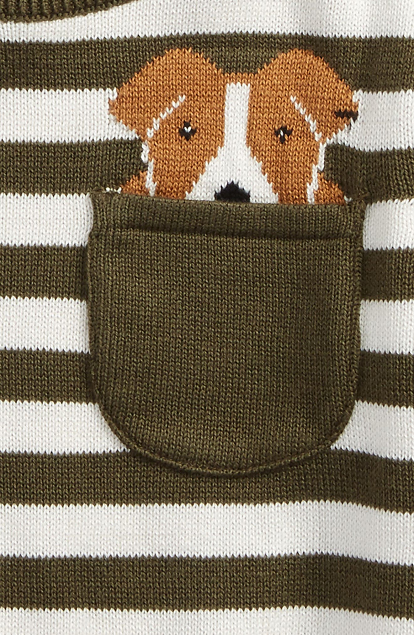 Alternate Image 2  - Tucker + Tate Pocket Dog Sweater (Baby Boys)