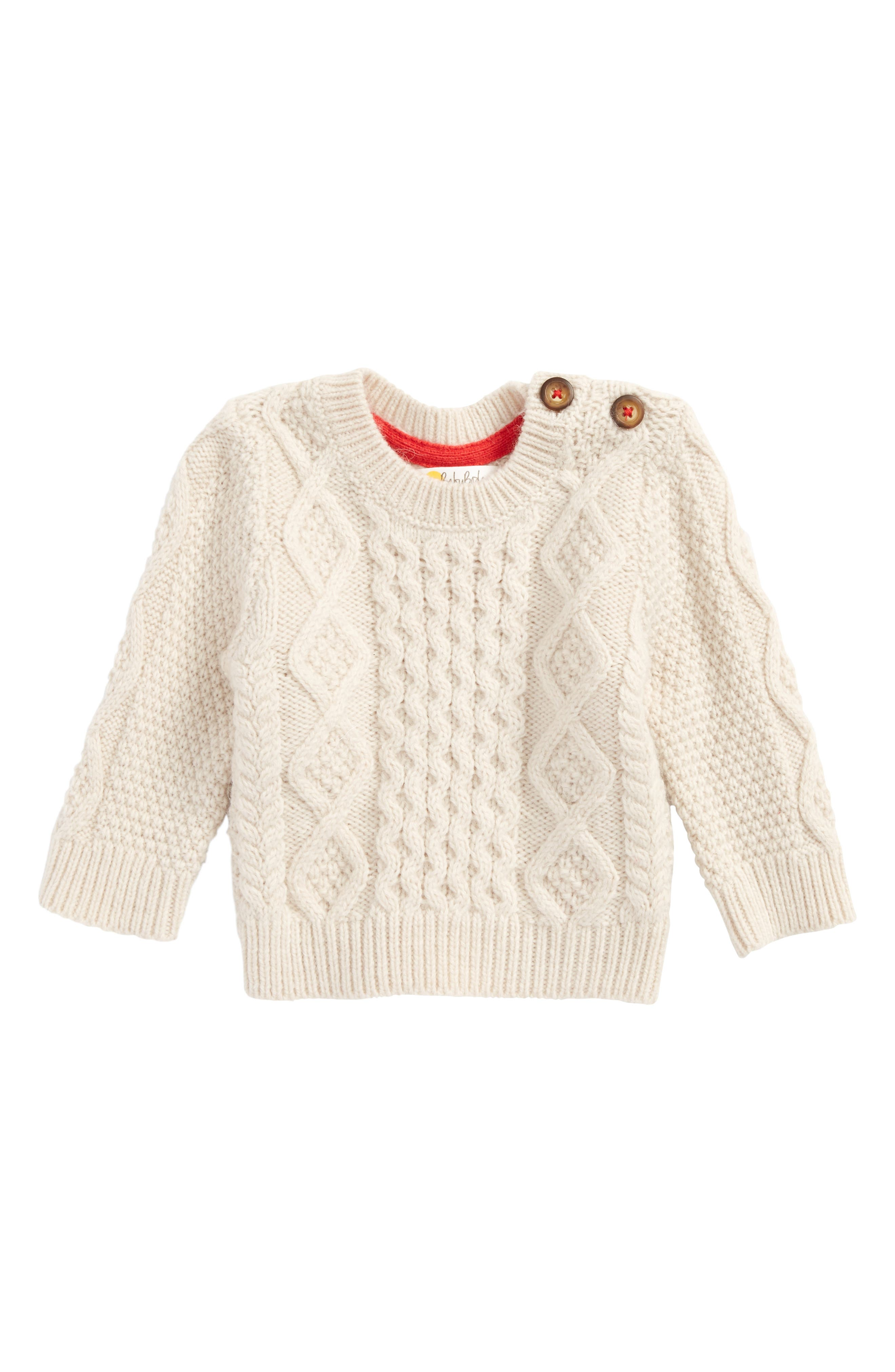 Mini Boden Cozy Cable Sweater (Baby Boys & Toddler Boys)