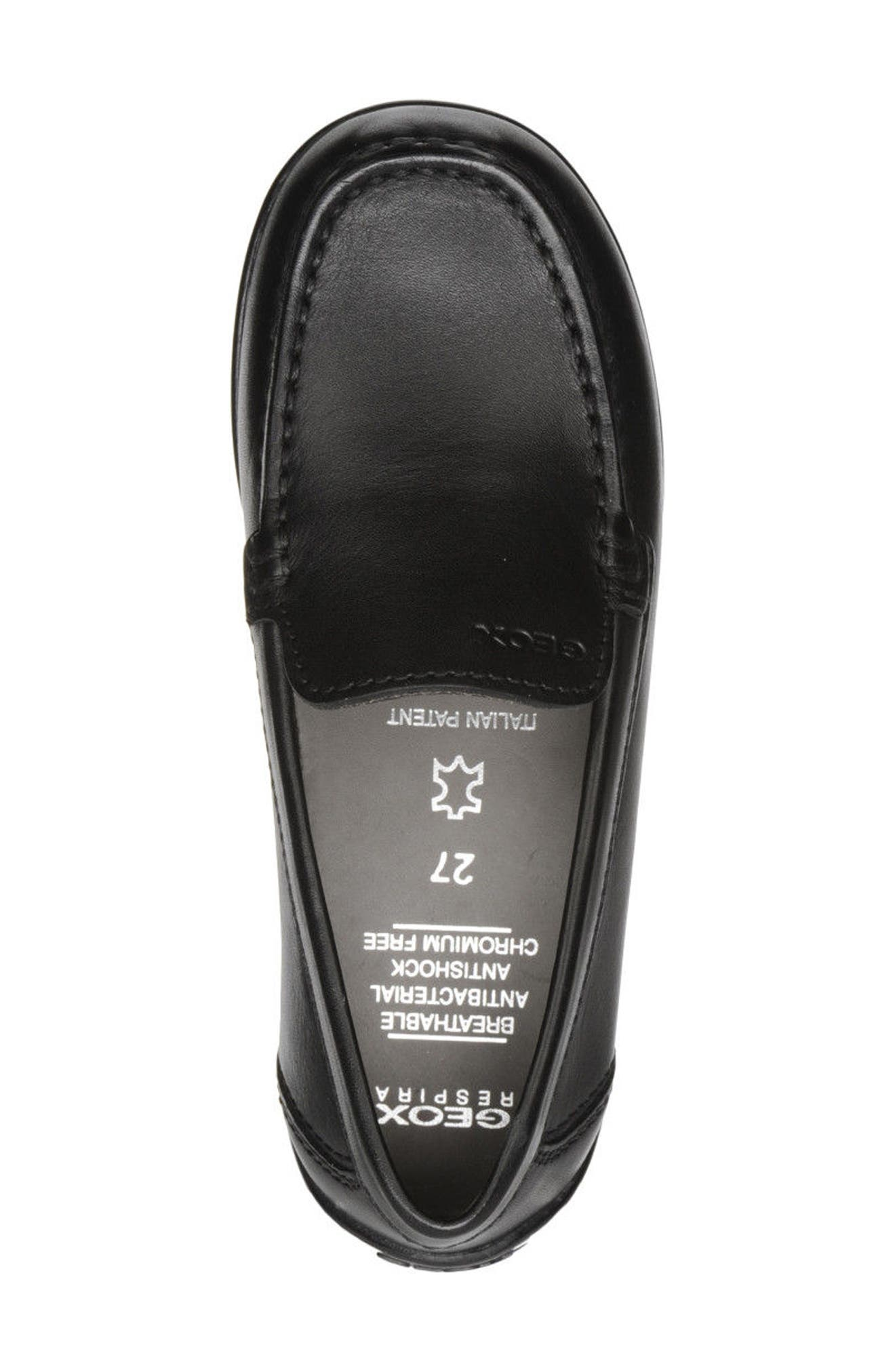 New Fast Driver Moccasin,                             Alternate thumbnail 4, color,                             Black Leather