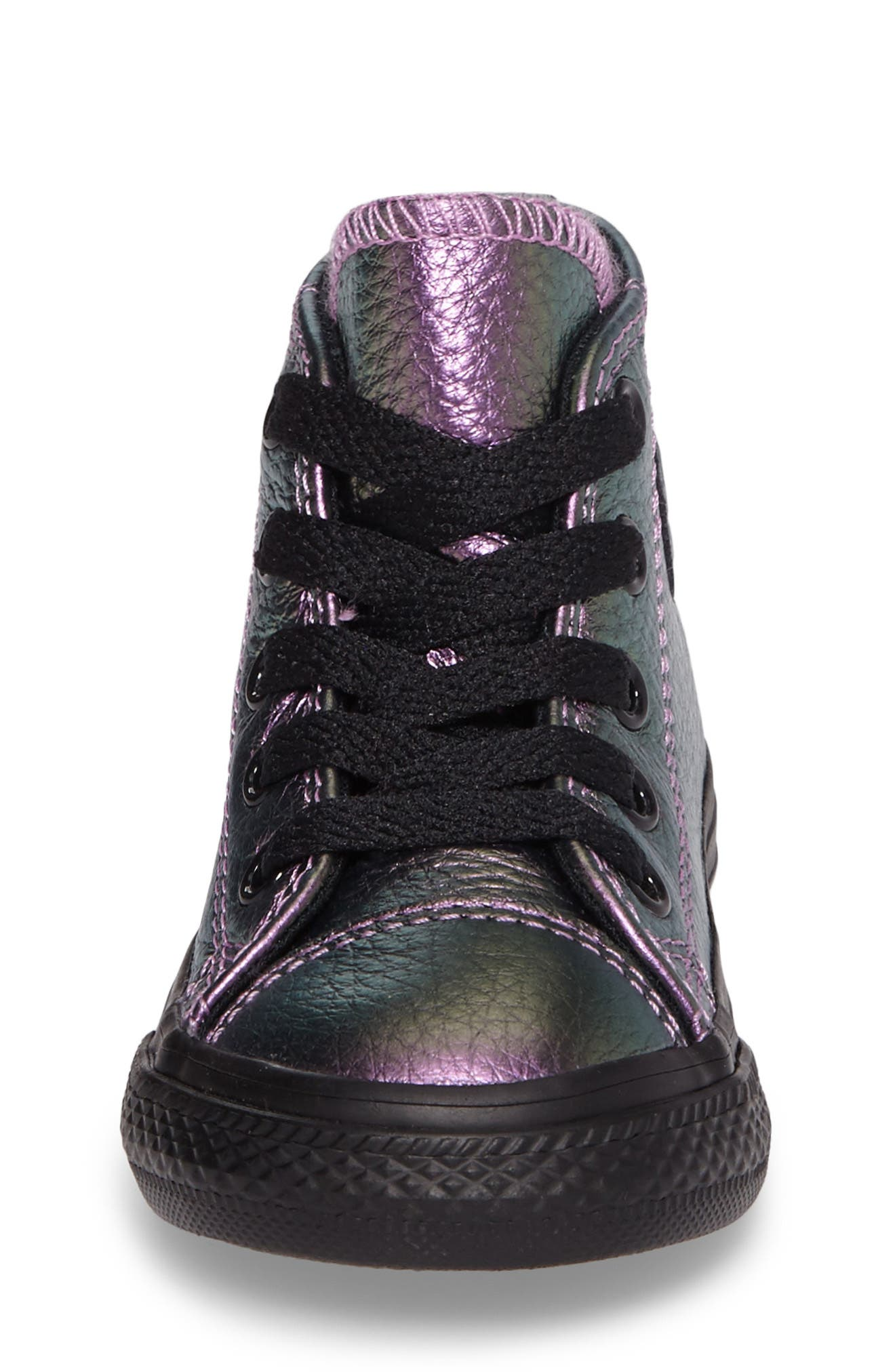 Alternate Image 4  - Converse Chuck Taylor® All Star® Iridescent Leather High Top Sneaker (Baby, Walker, Toddler & Little Kid)