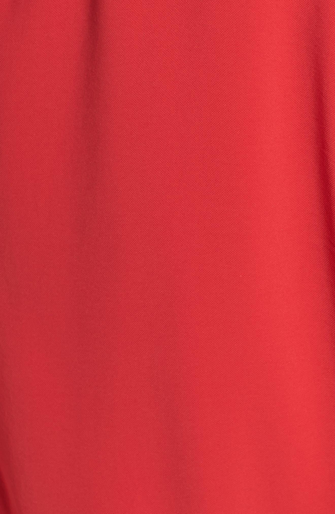 Crepe Flutter Sleeve Dress,                             Alternate thumbnail 5, color,                             Red Fire