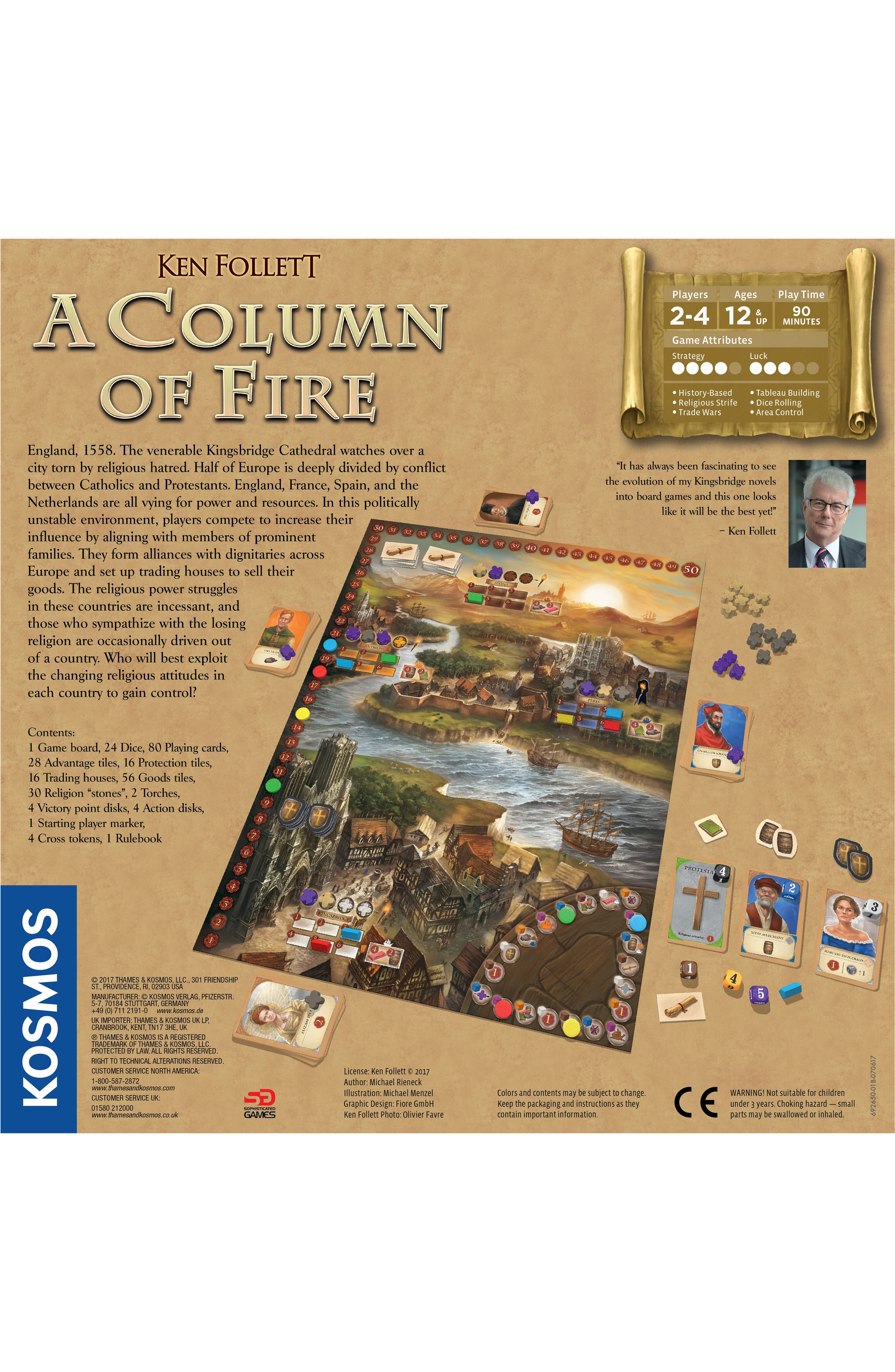 - A Column of Fire Game,                             Alternate thumbnail 3, color,                             Multi