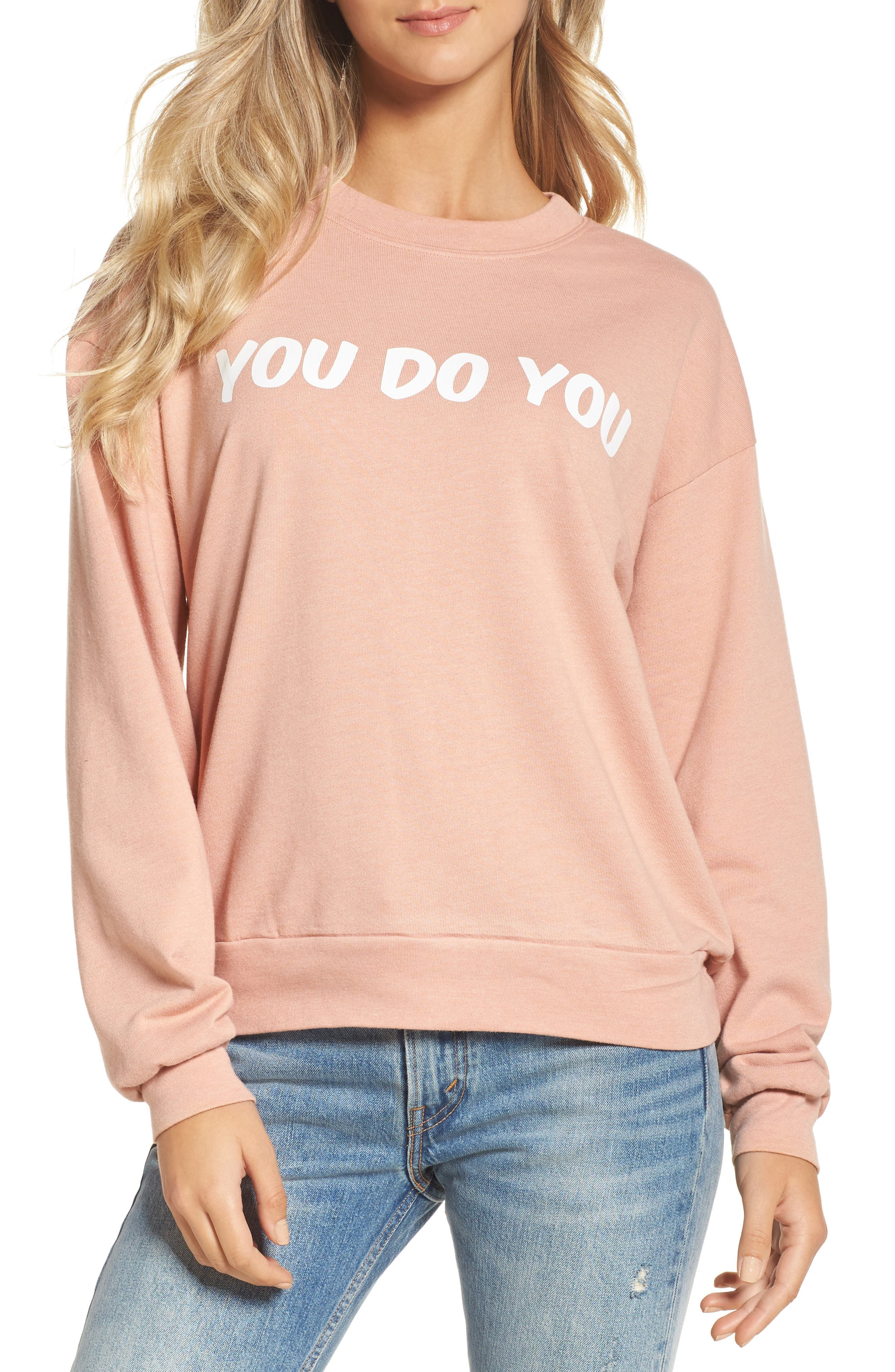 You Do You Sweatshirt,                         Main,                         color, Rose
