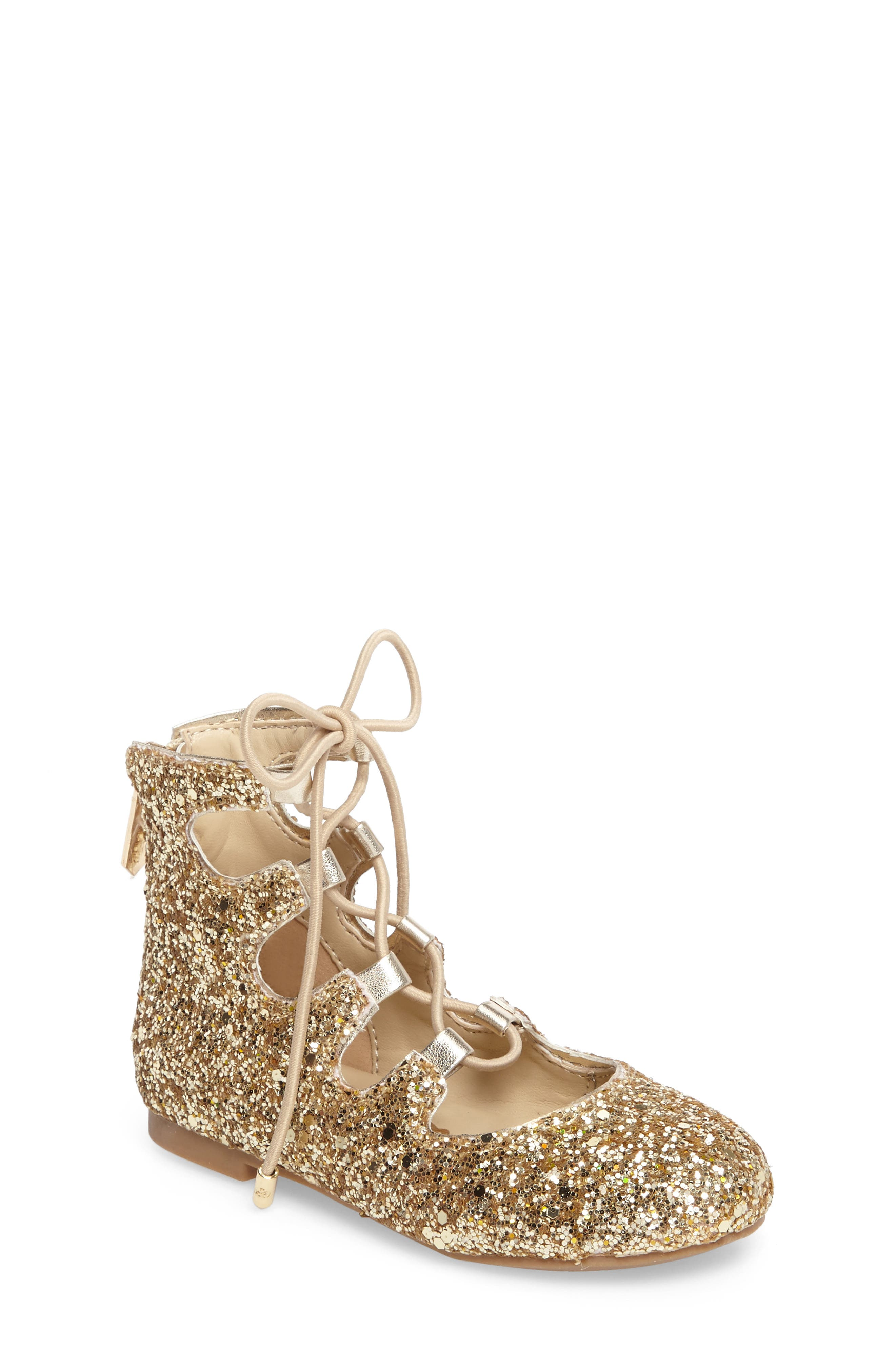 Sam Edelman Felicia Stella Ghillie Glitter Flat (Walker, Toddler, Little Kid & Big Kid)