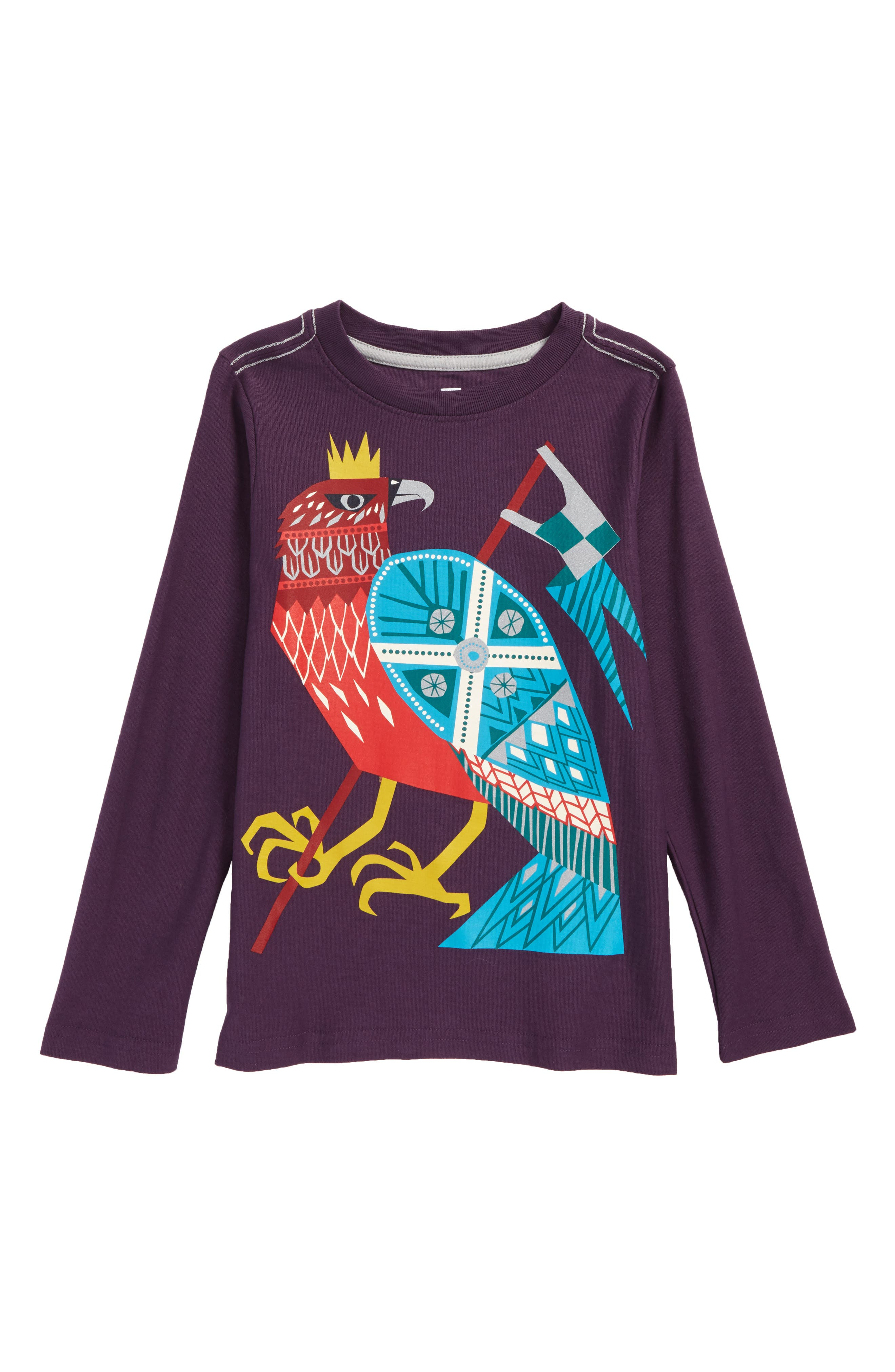 Tea Collection Hawk Highness Graphic T-Shirt (Toddler Boys & Little Boys)