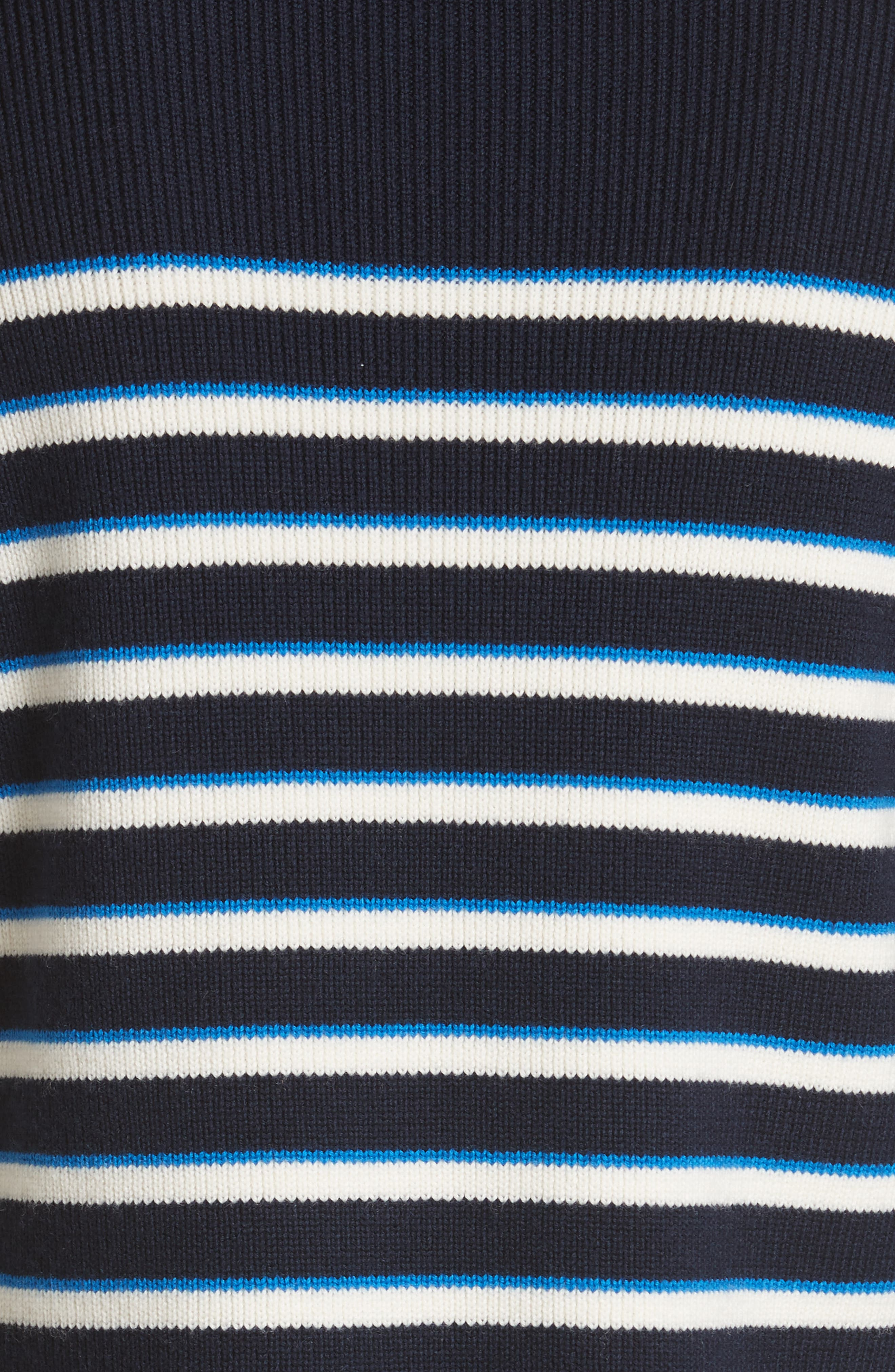 Amos Stripe Merino Wool Sweater,                             Alternate thumbnail 5, color,                             Navy/ Ivory/ Blue