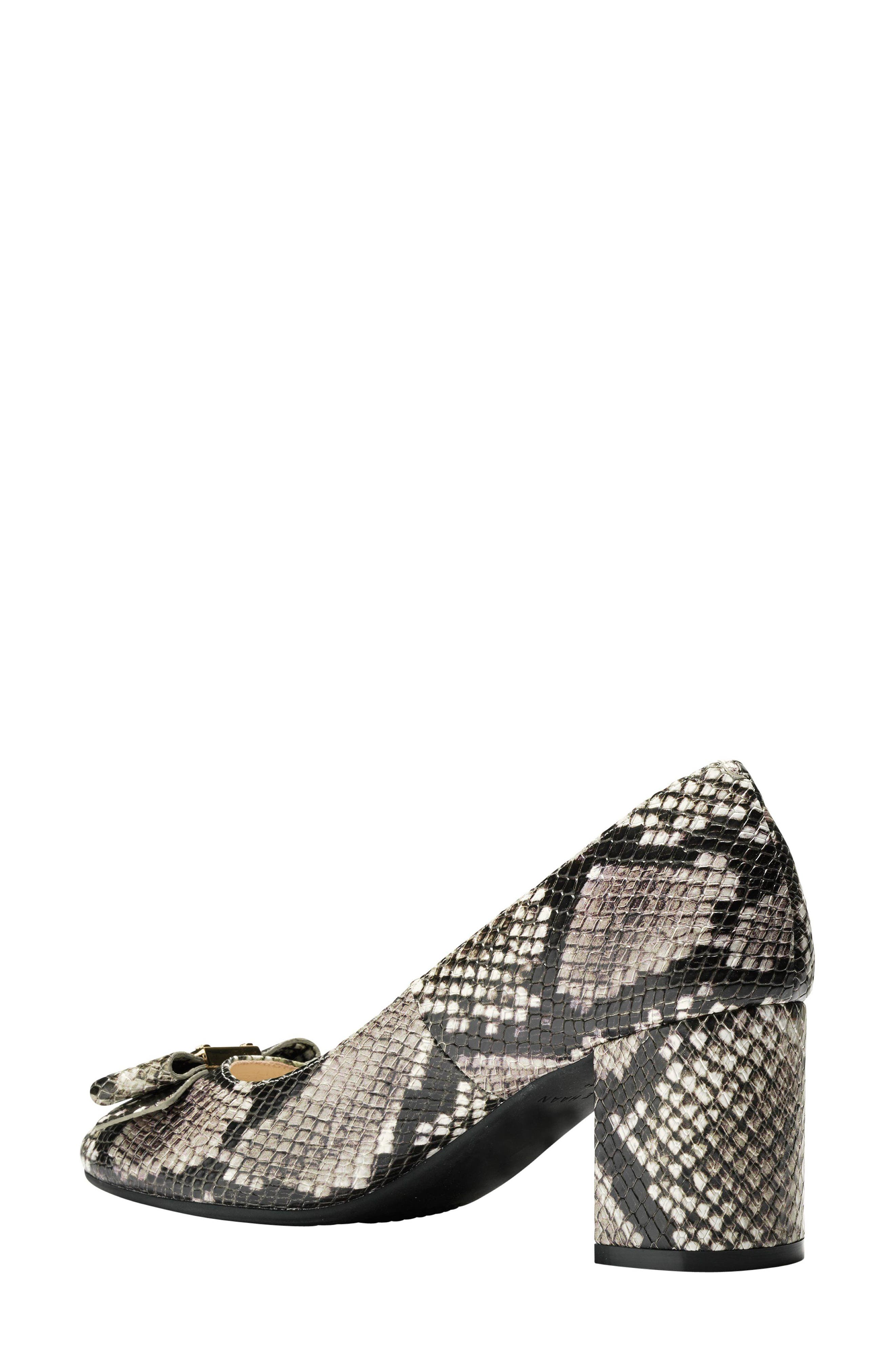 Tali Bow Pump,                             Alternate thumbnail 2, color,                             Beige Snake Print Leather