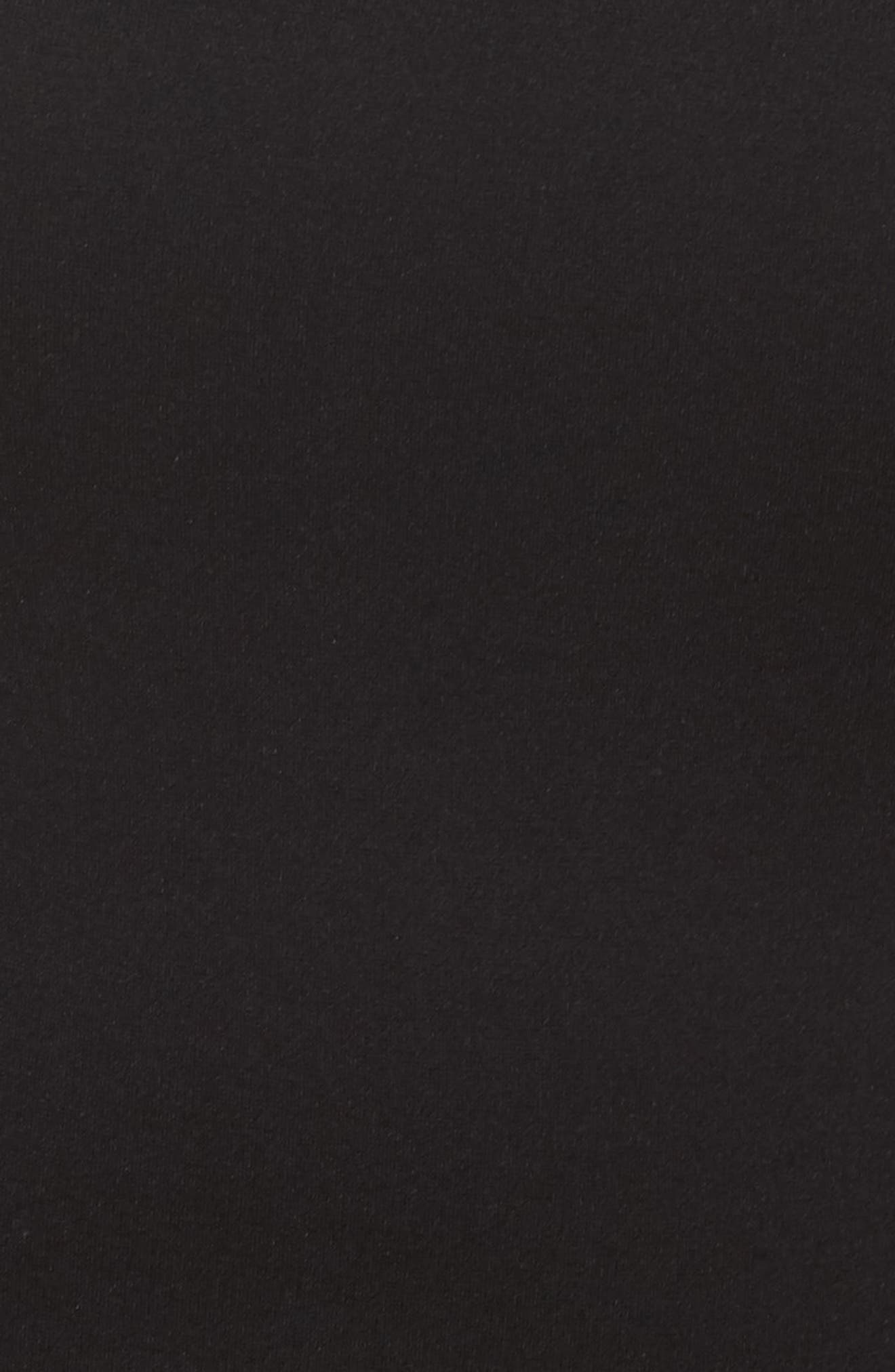 Sheer Blouson Sleeve Sheath Dess,                             Alternate thumbnail 6, color,                             Black