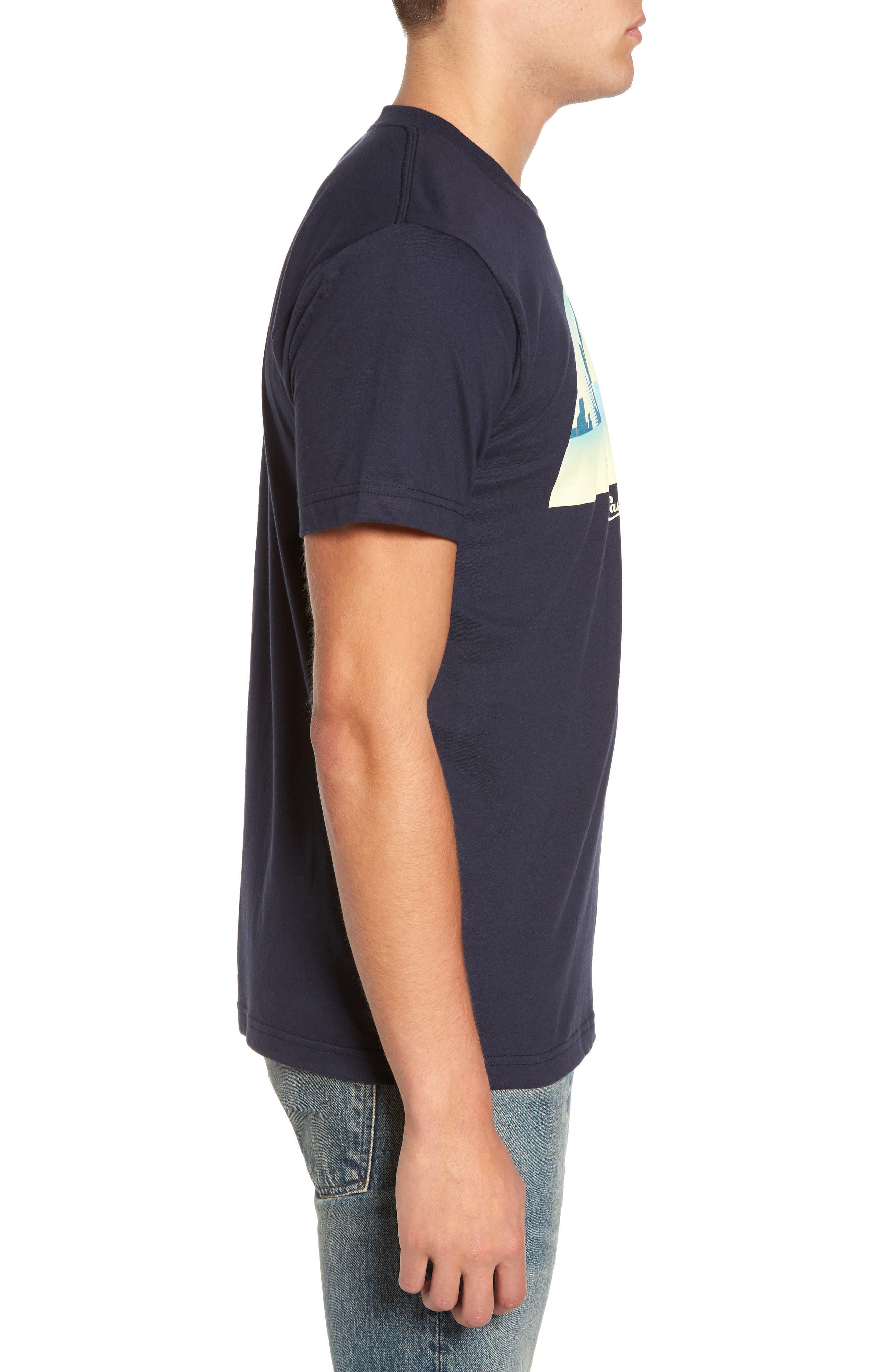 Skyline Arch 3D Graphic T-Shirt,                             Alternate thumbnail 3, color,                             Navy