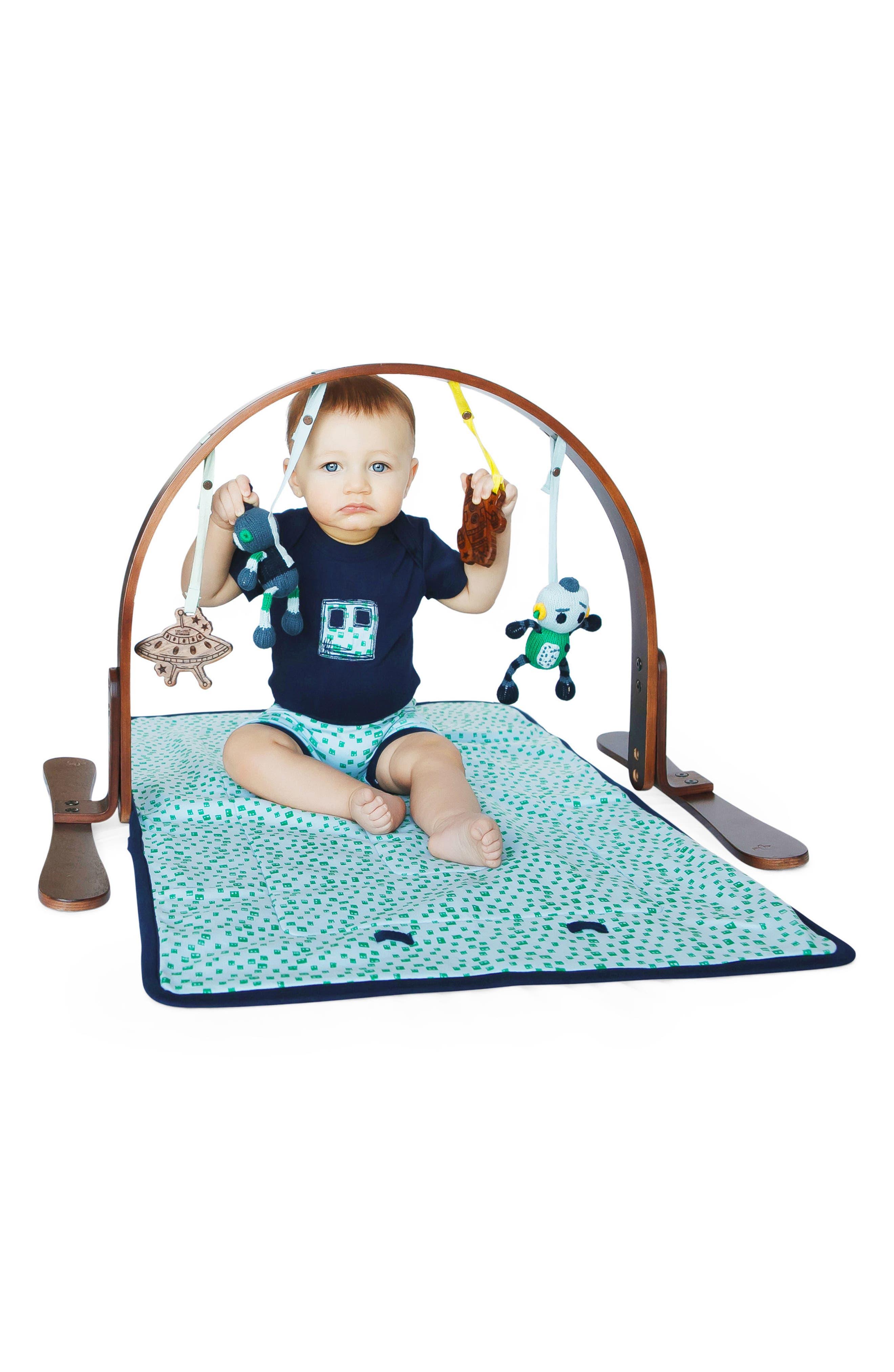 Alternate Image 3  - Finn + Emma Robot Play Mat & Stroller Buddy Set (Baby)